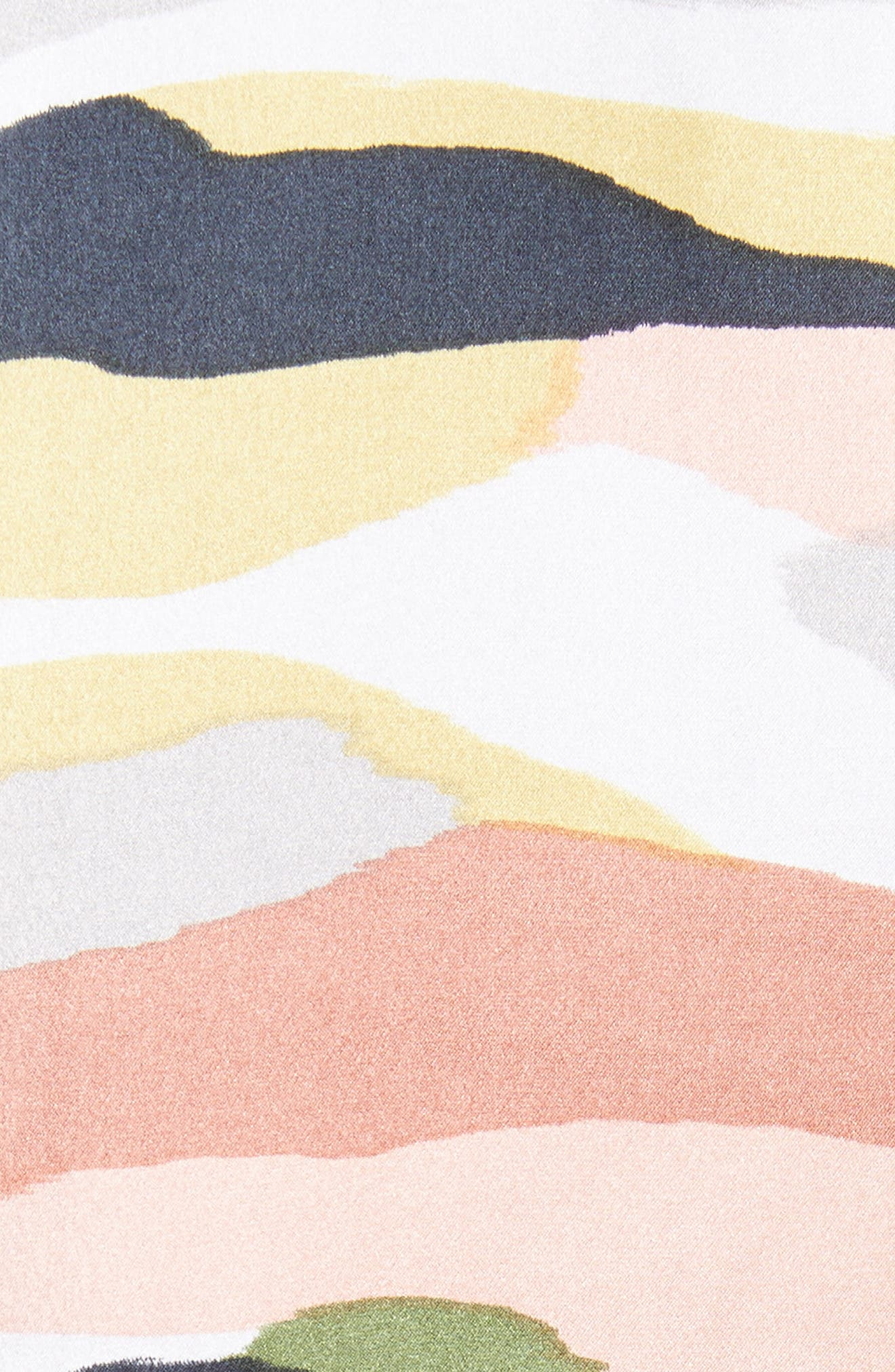 Sayer Tie-Sleeve Silk Top,                             Alternate thumbnail 5, color,                             Bright White Multi