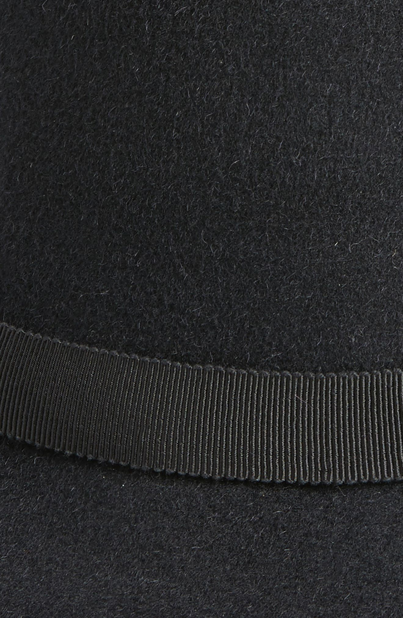Luxe Tapered Cloche Hat,                             Alternate thumbnail 2, color,                             Black