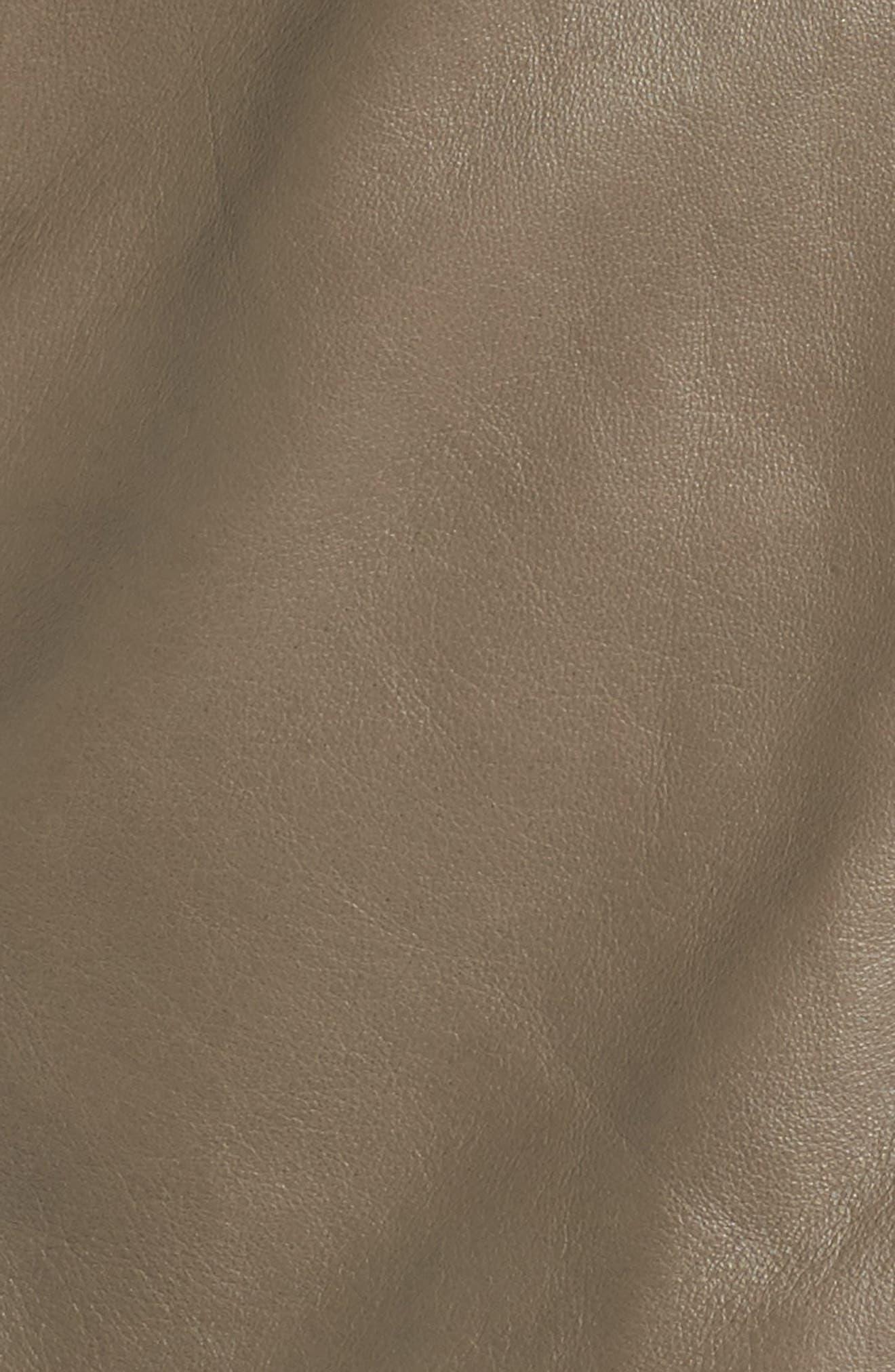 Alternate Image 5  - Halogen® Leather Moto Jacket (Plus Size)