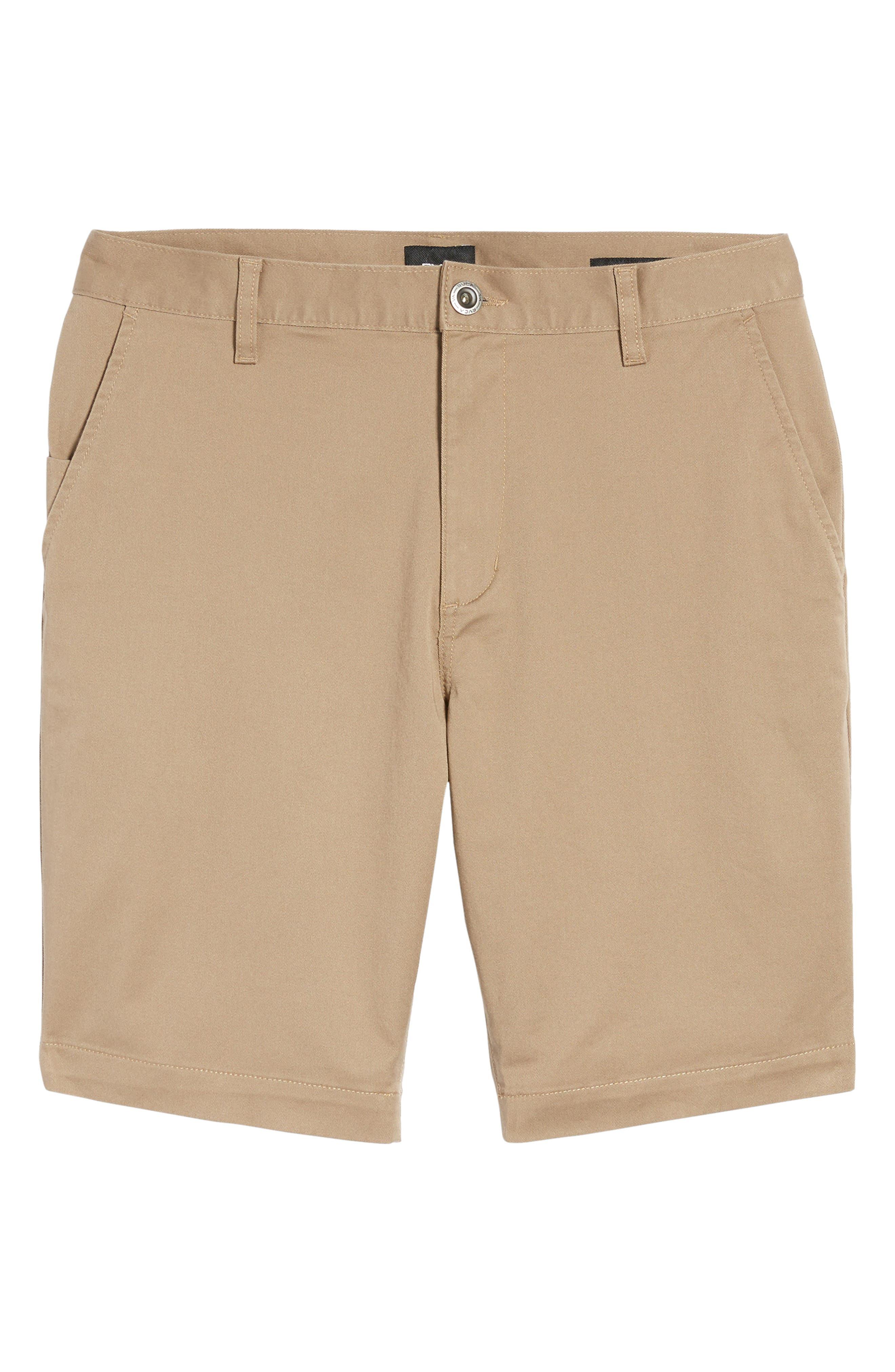 The Week-End Stretch Twill Chino Shorts,                             Alternate thumbnail 6, color,                             Dark Khaki