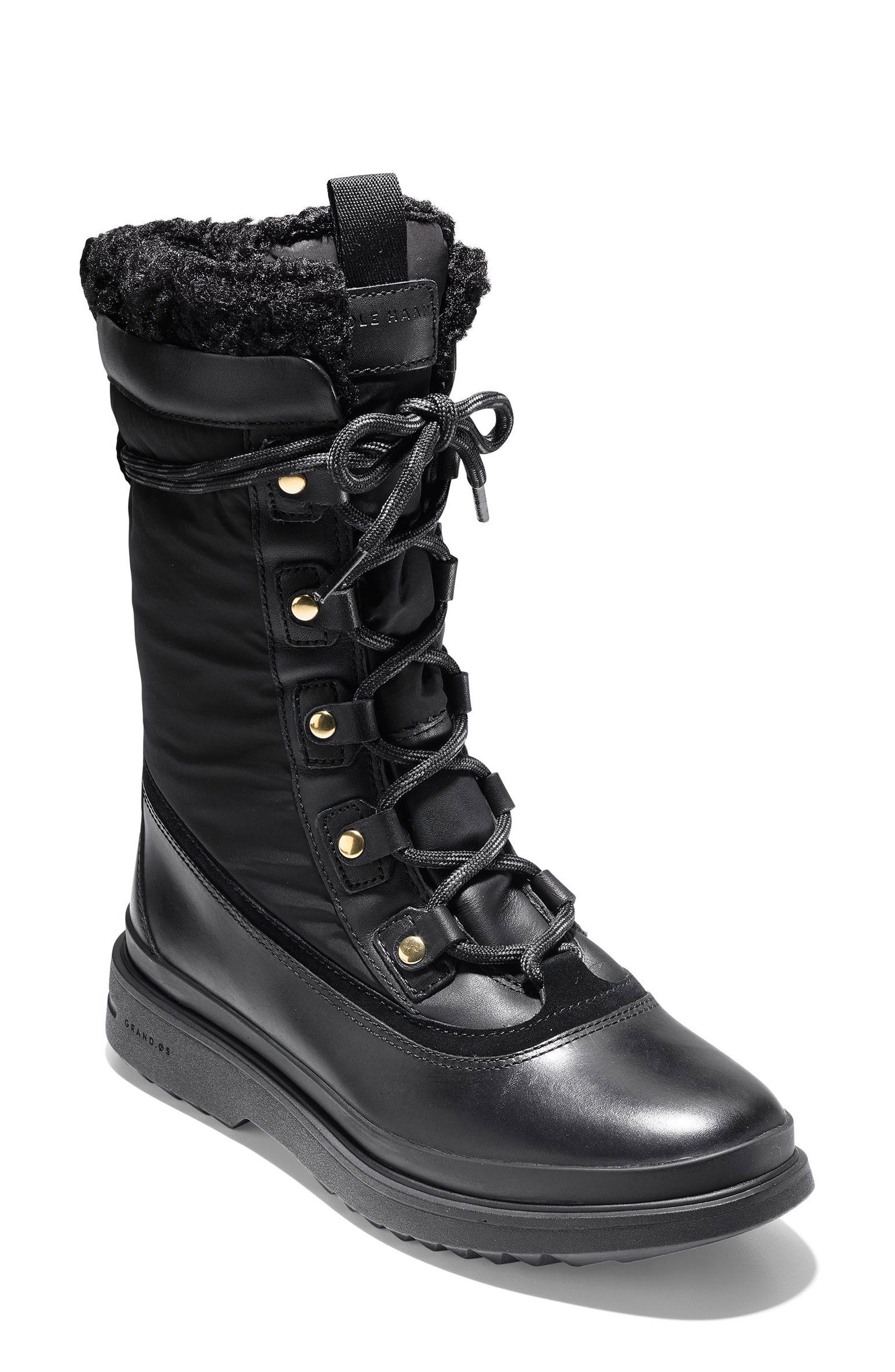 Millbridge Waterproof Boot,                         Main,                         color, Black Leather
