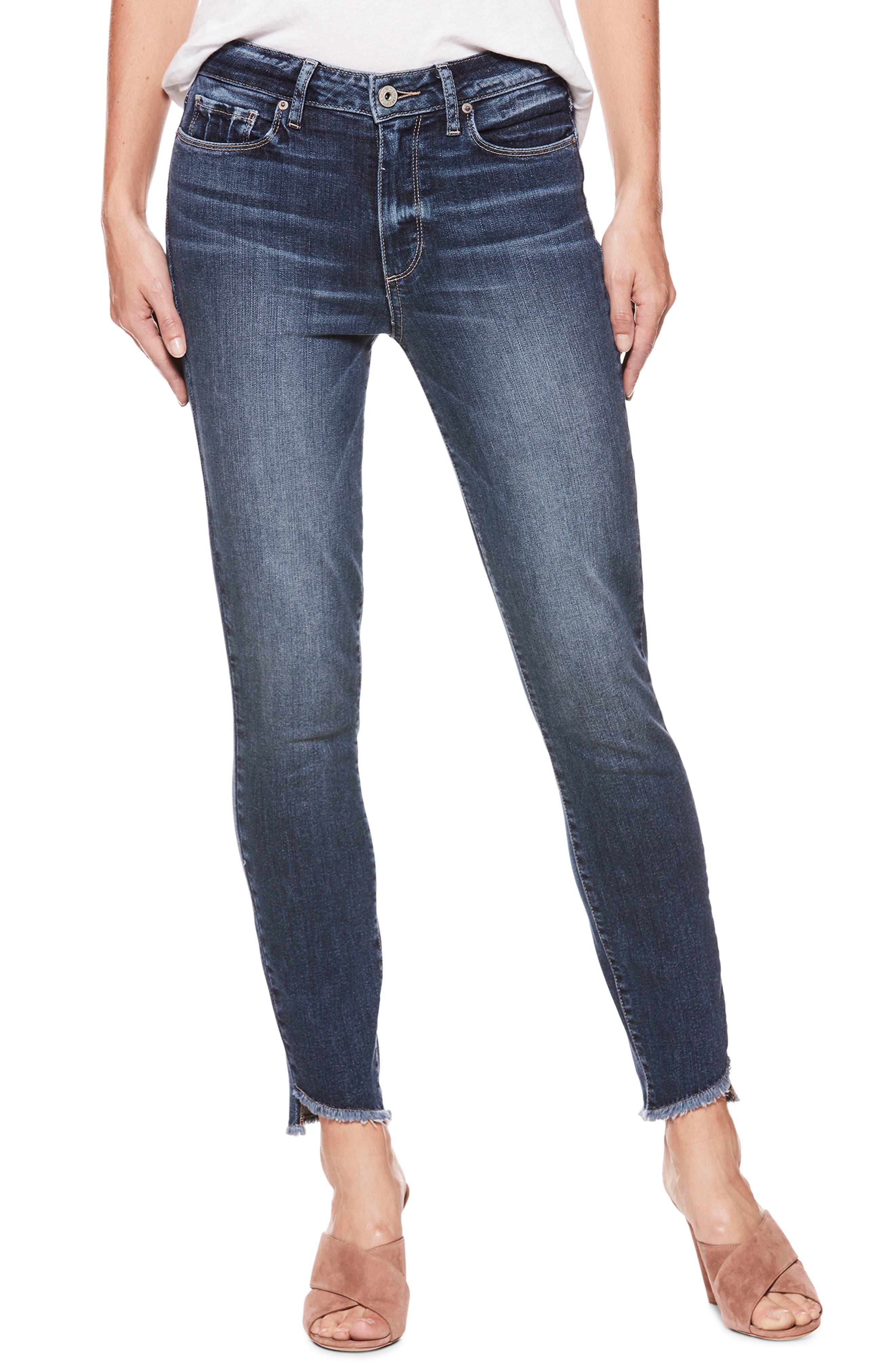 Hoxton High Waist Ankle Skinny Jeans,                             Main thumbnail 1, color,                             Blue