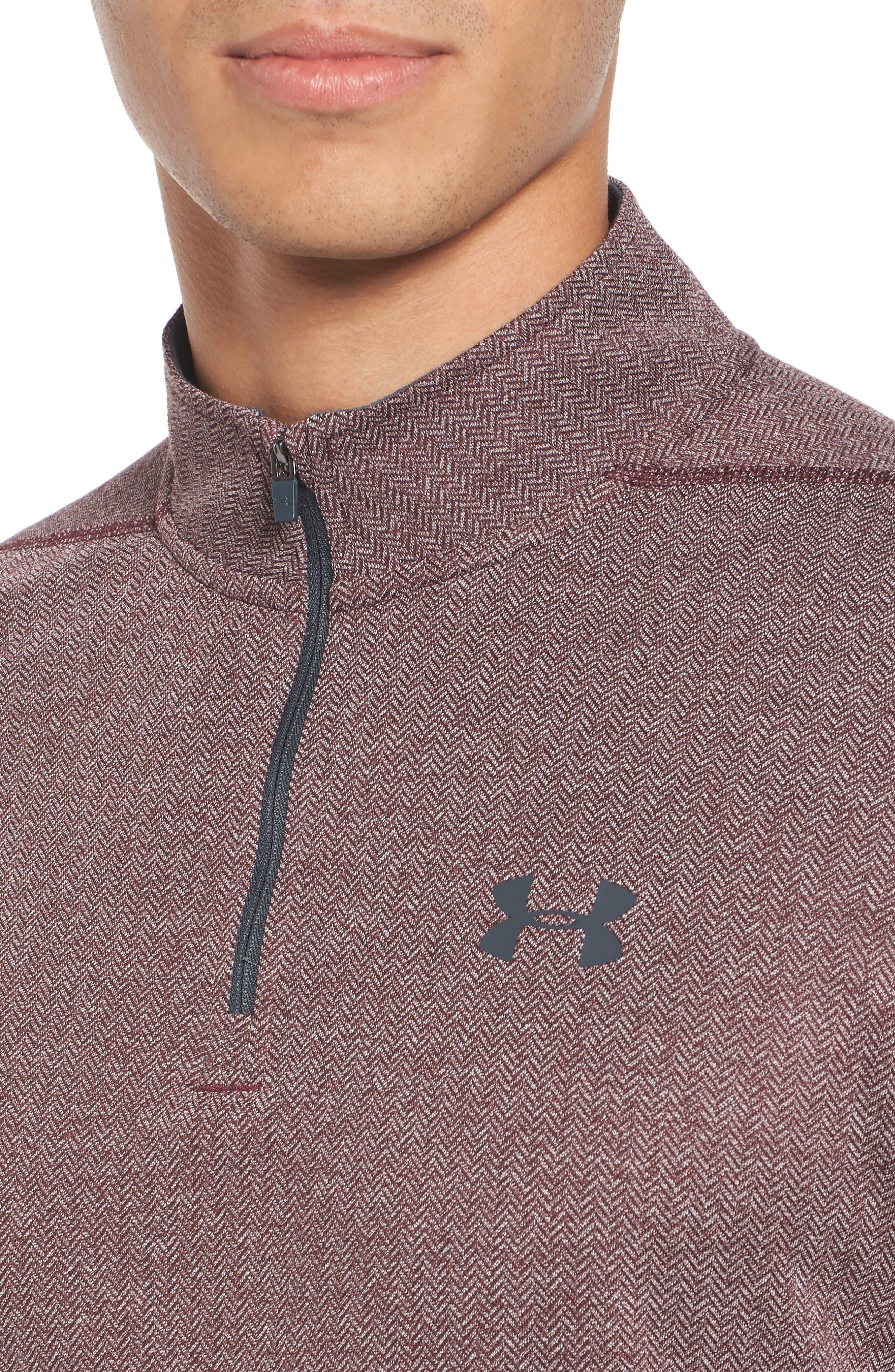 Alternate Image 4  - Under Armour Threadborne Quarter-Zip Performance Shirt