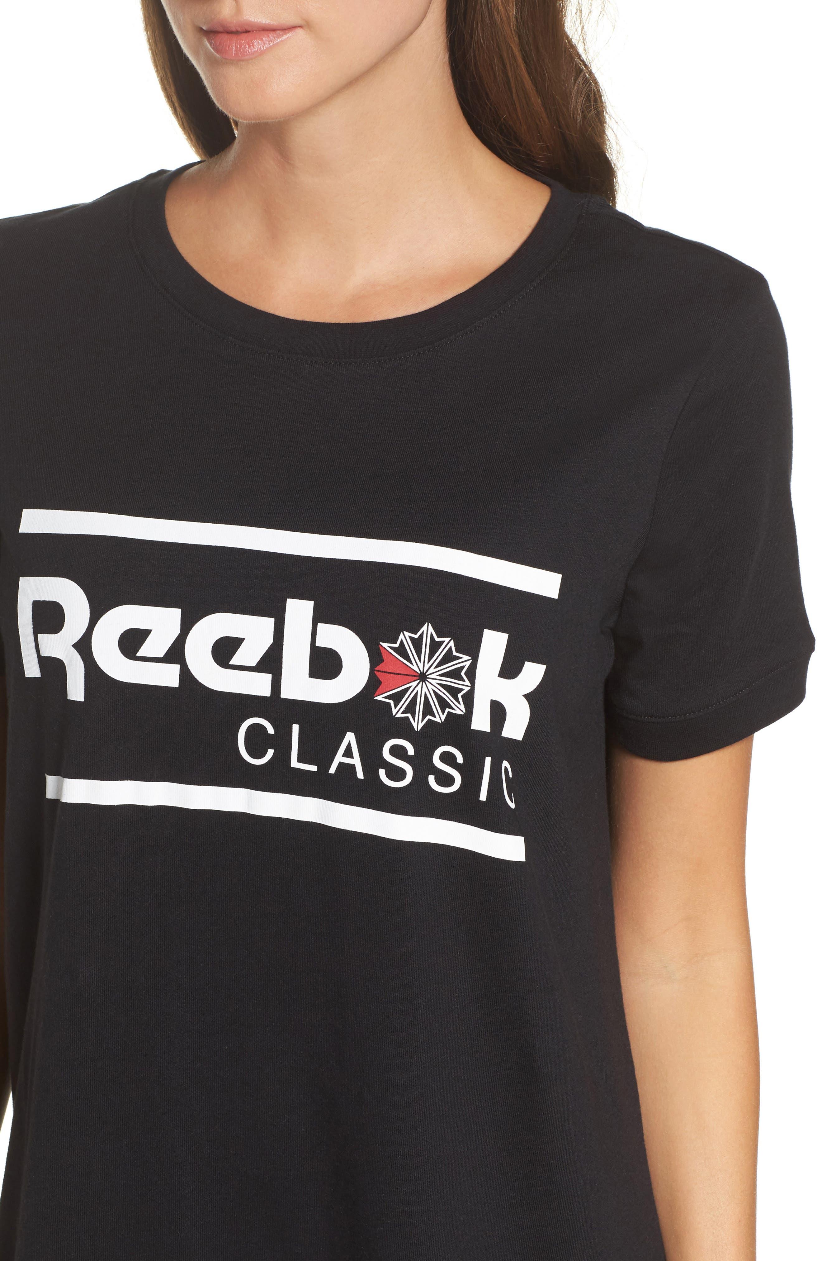 Classics T-Shirt Dress,                             Alternate thumbnail 4, color,                             Black