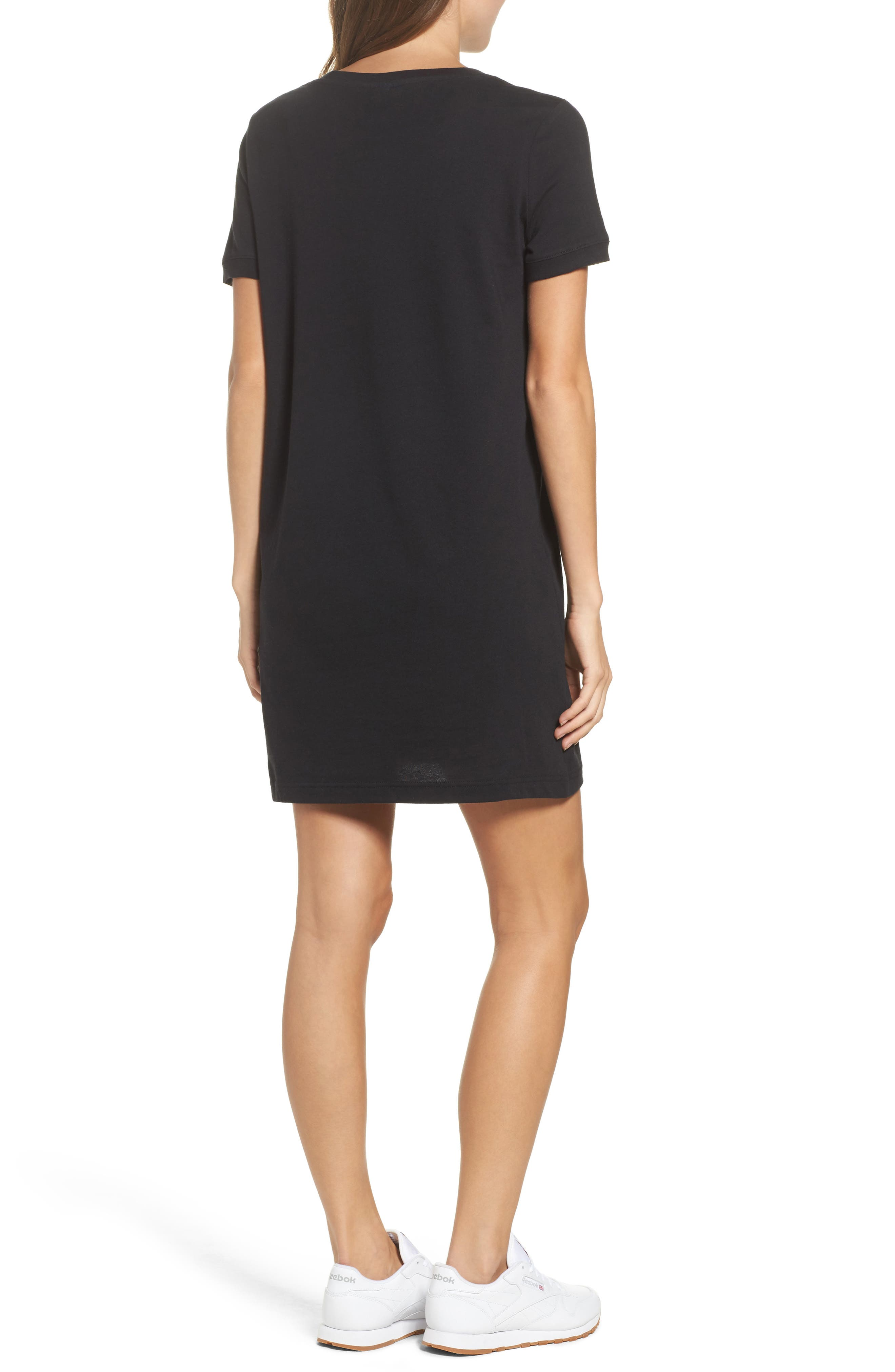 Classics T-Shirt Dress,                             Alternate thumbnail 2, color,                             Black
