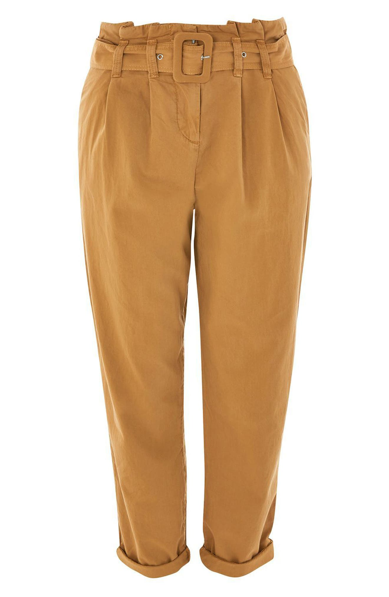 Alternate Image 4  - Topshop Belted Chino Pants