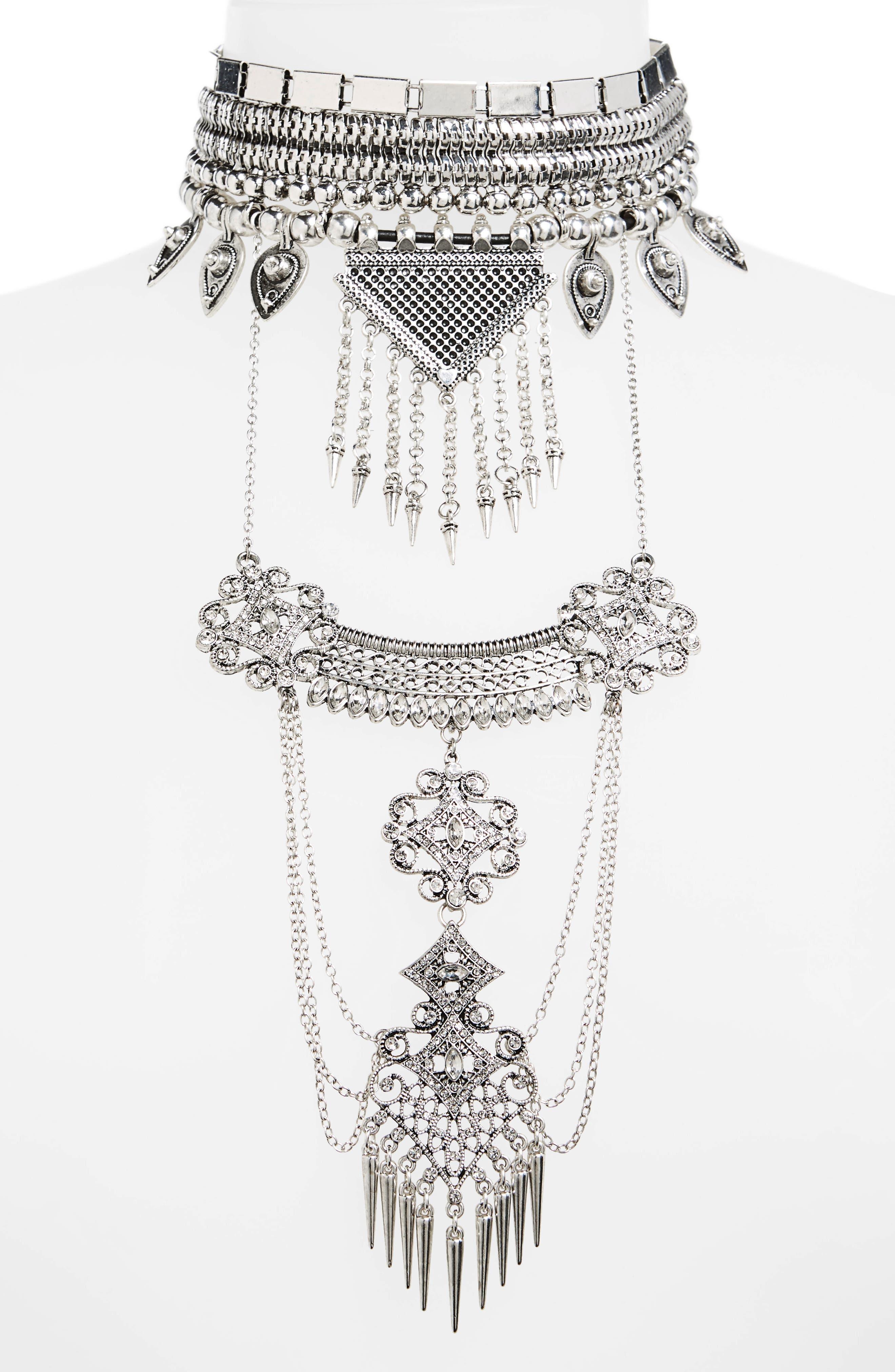 Main Image - Topshop Shard Drop Statement Necklace
