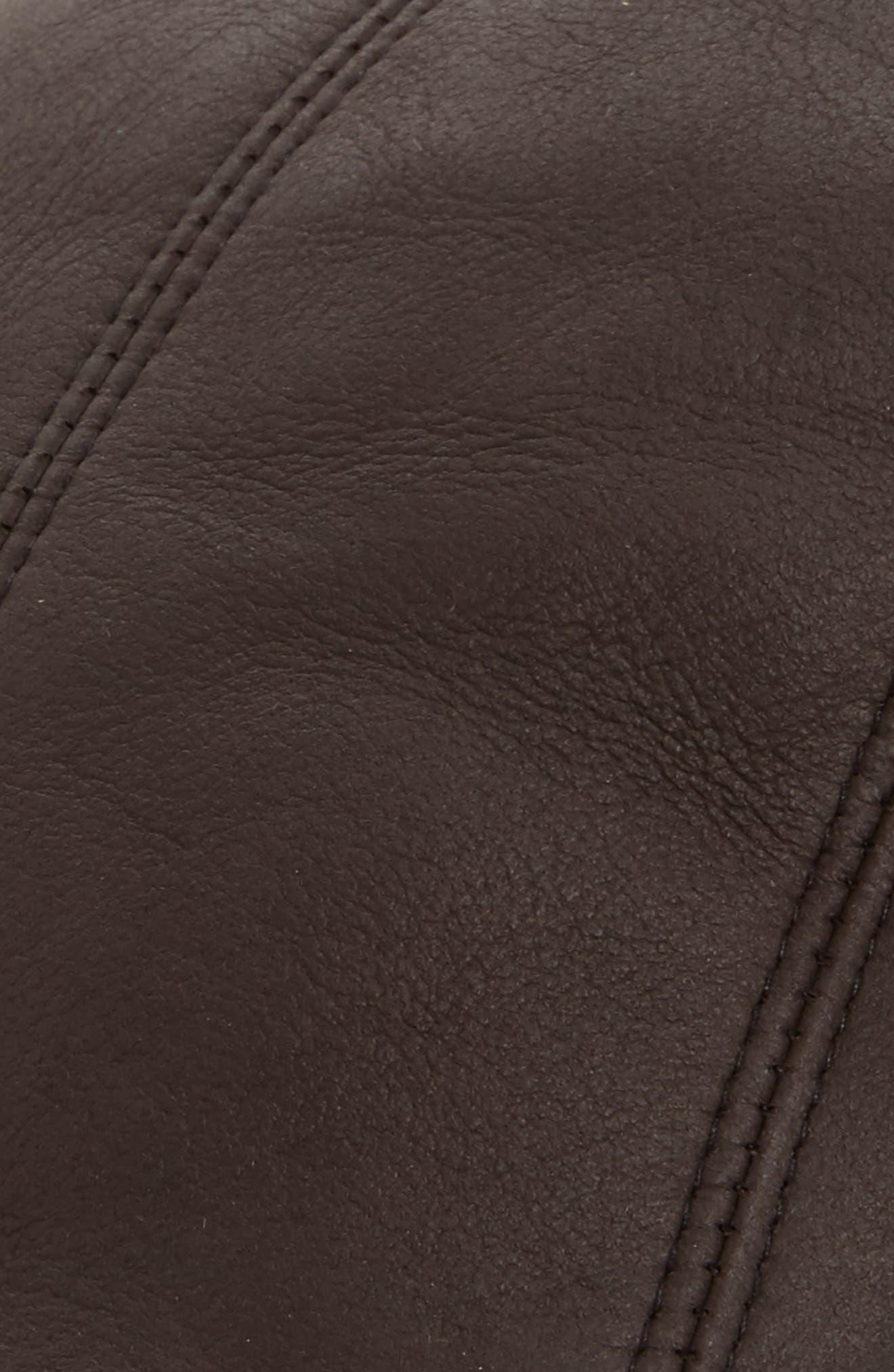 Alternate Image 2  - Crown Cap Genuine Shearling Leather Driving Cap