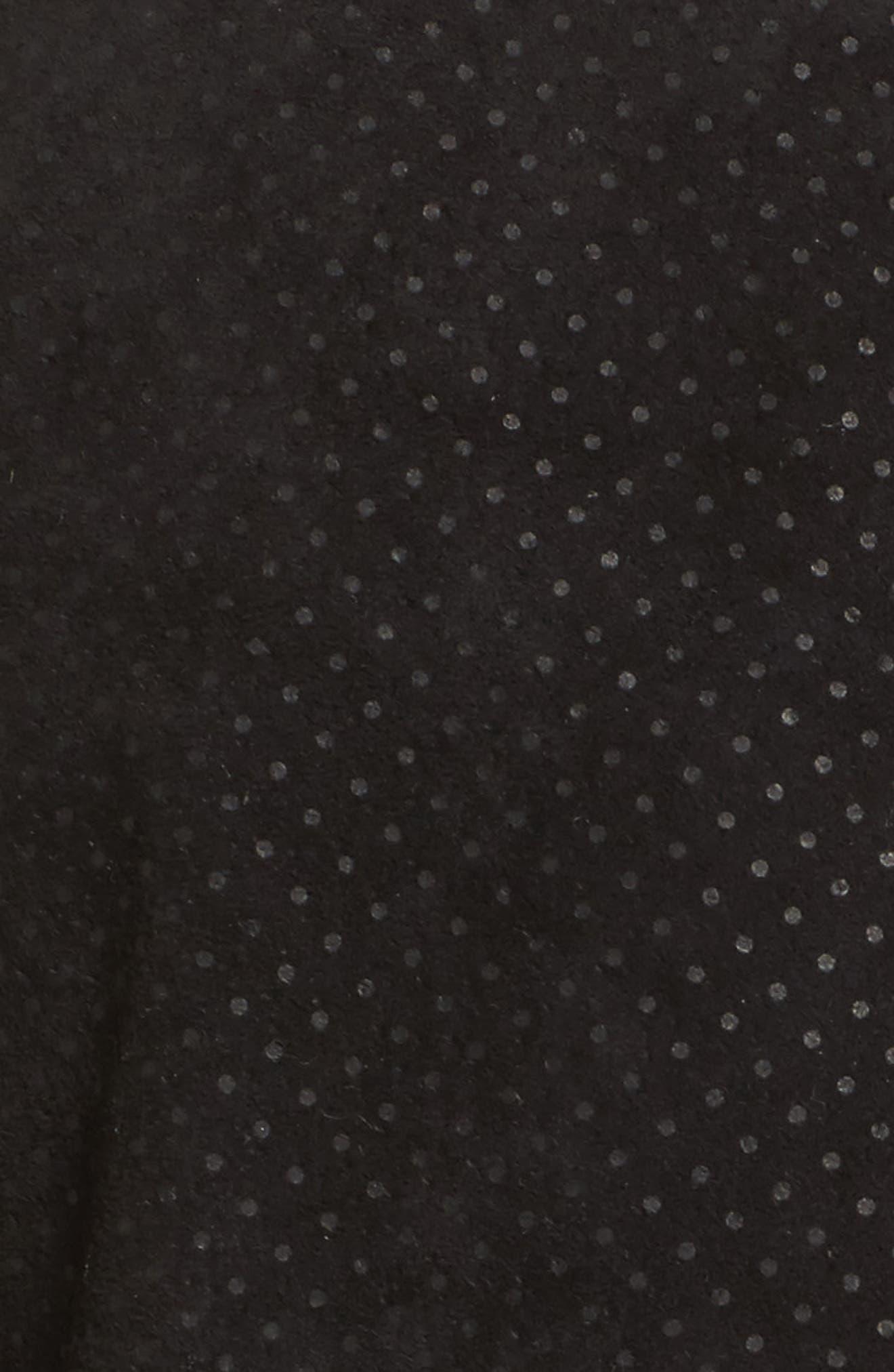 Motorin Suede Jacket,                             Alternate thumbnail 6, color,                             Black