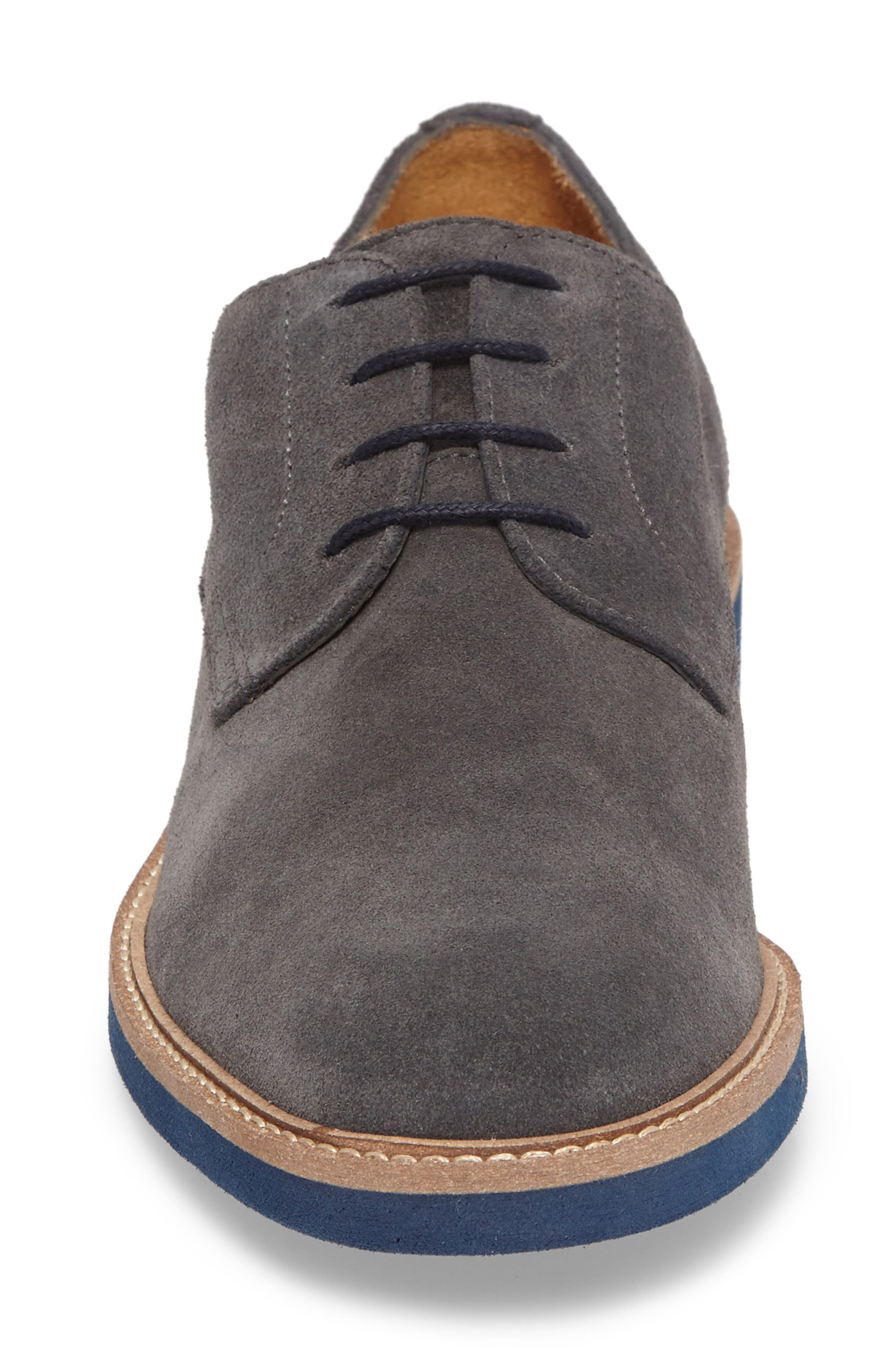 Buck Shoe,                             Alternate thumbnail 4, color,                             Grey Suede