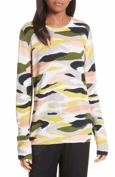Equipment Shane Camo Print Cashmere Sweater