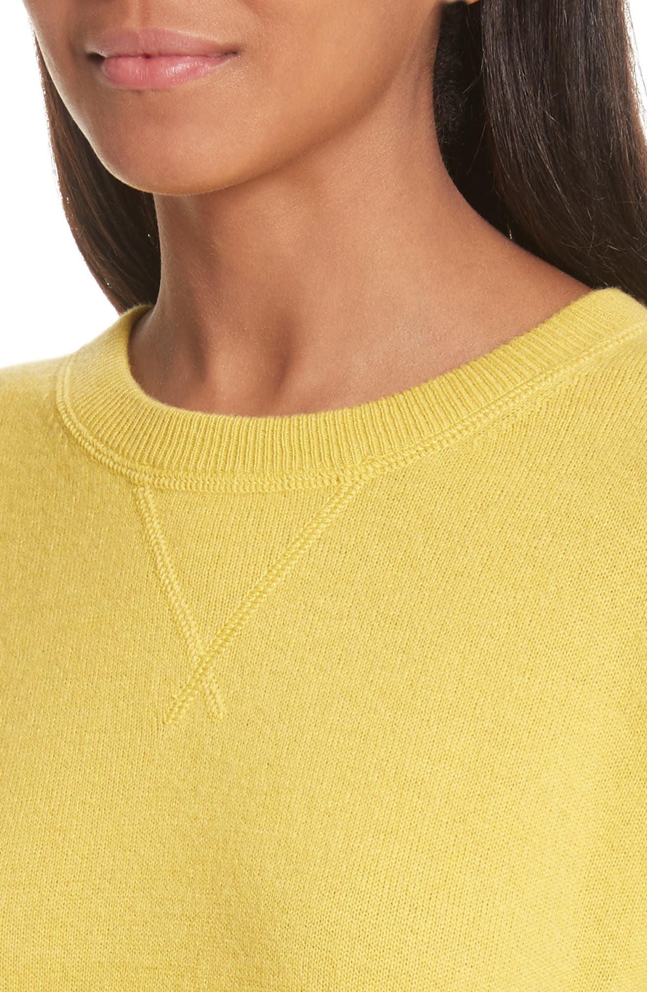 Renee Cashmere Sweatshirt,                             Alternate thumbnail 4, color,                             Bright Side