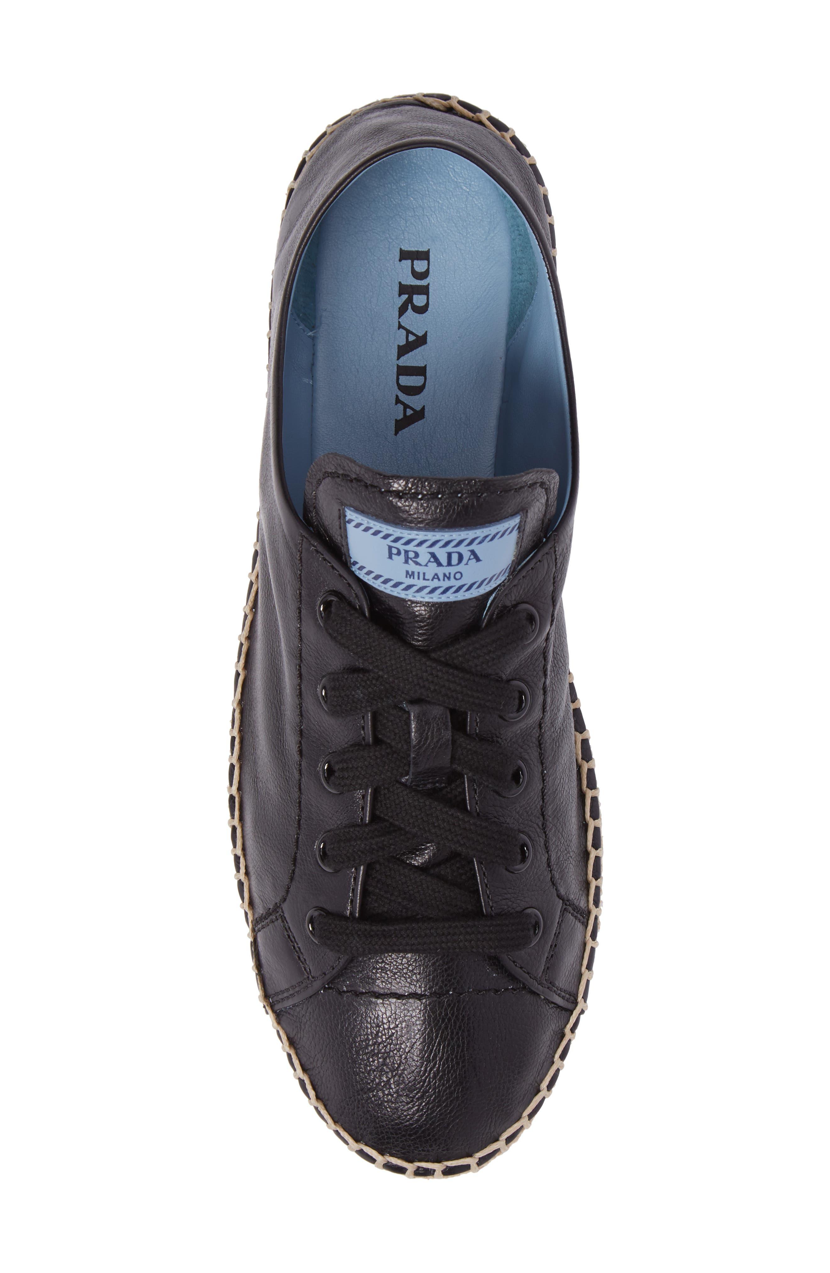 Flatform Espadrille Sneaker,                             Alternate thumbnail 5, color,                             Black
