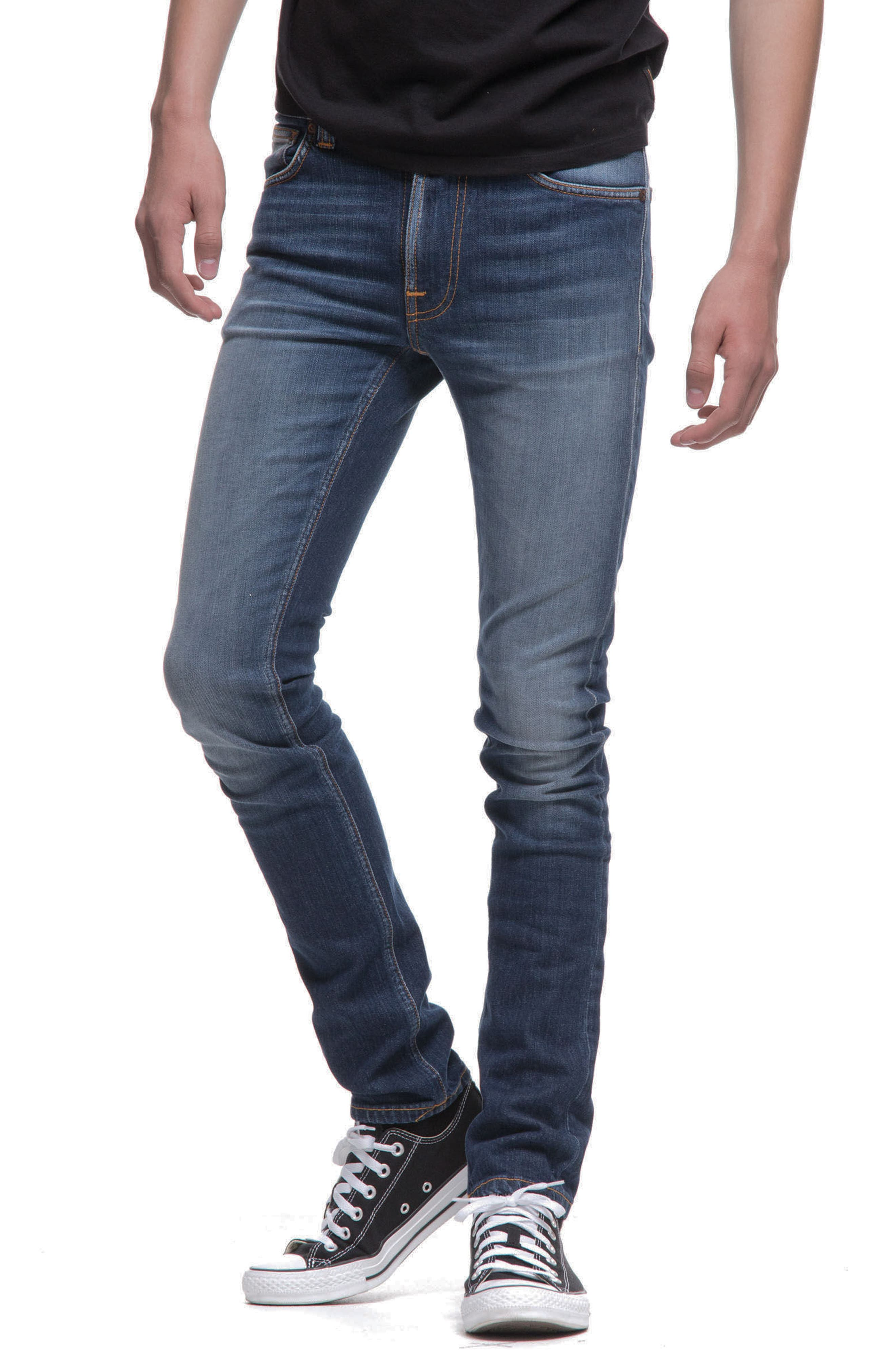 Alternate Image 4  - Nudie Jeans Lean Dean Slouchy Slim Fit Jeans (Blue Ridge)