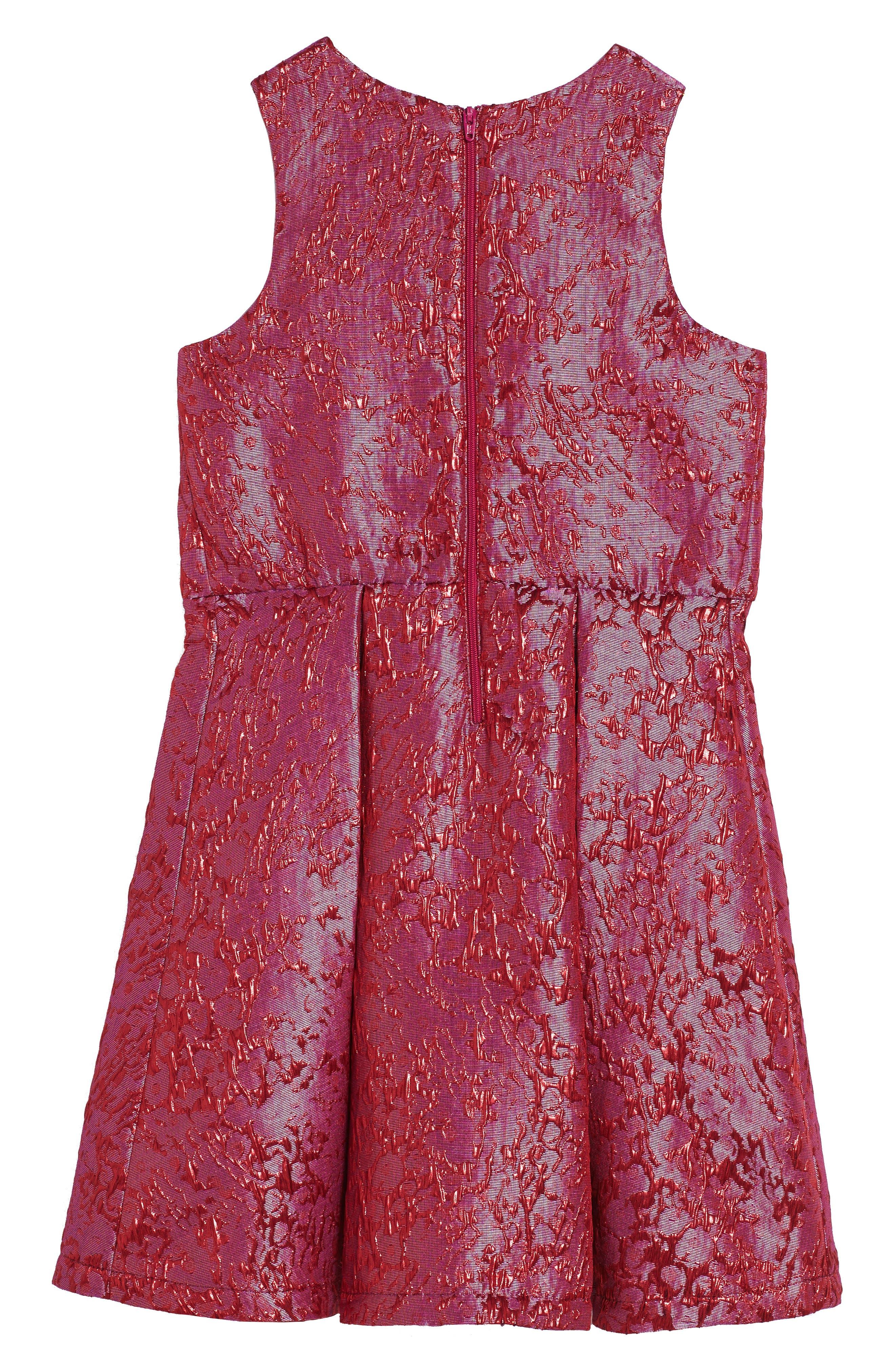 Textured Jacquard Dress,                             Alternate thumbnail 2, color,                             Pink Virtue Crackle