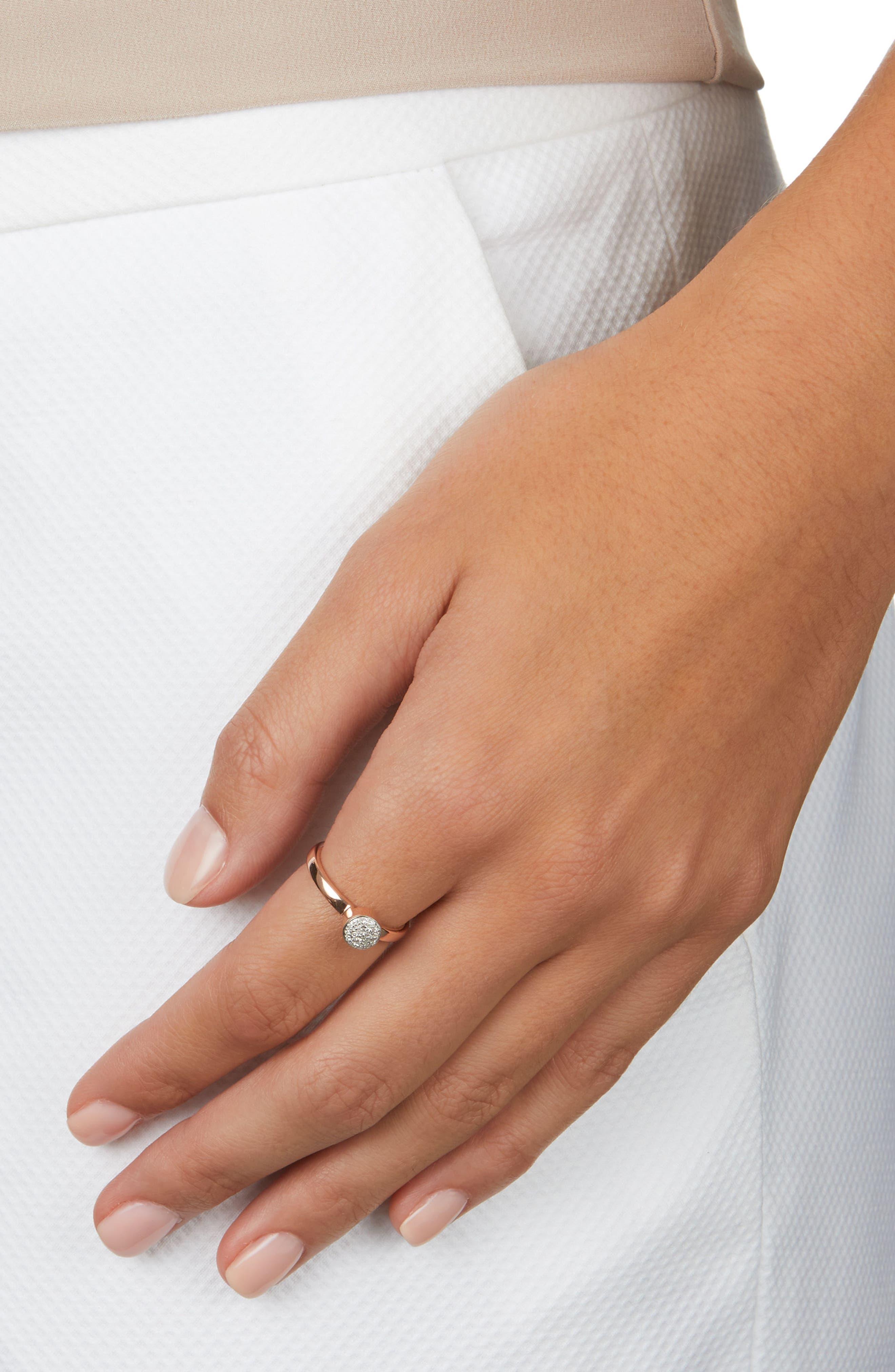 Alternate Image 2  - Monica Vinader Fiji Mini Diamond Button Stack Ring