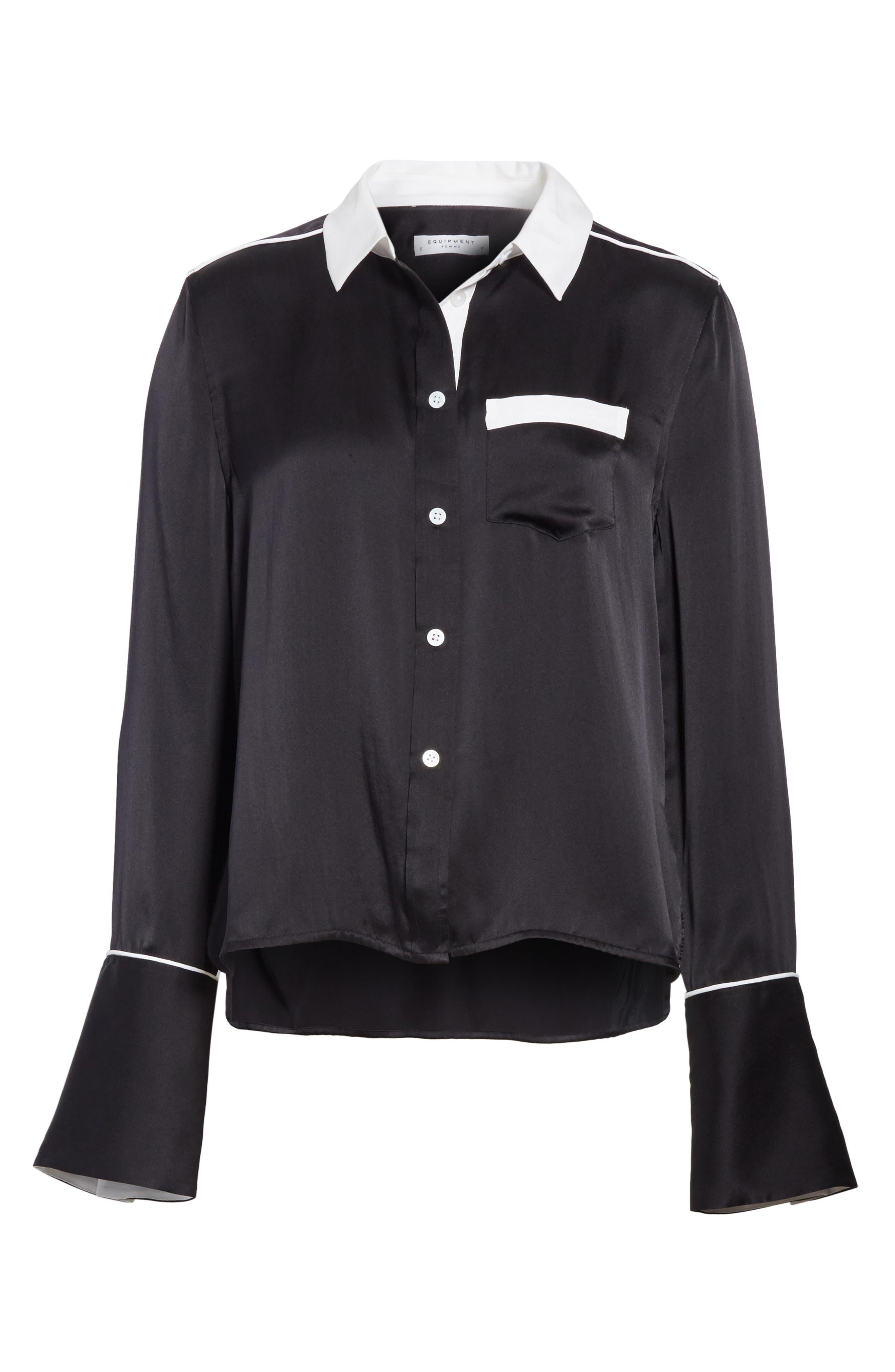 Alternate Image 6  - Equipment Huntley Contrast Silk Shirt
