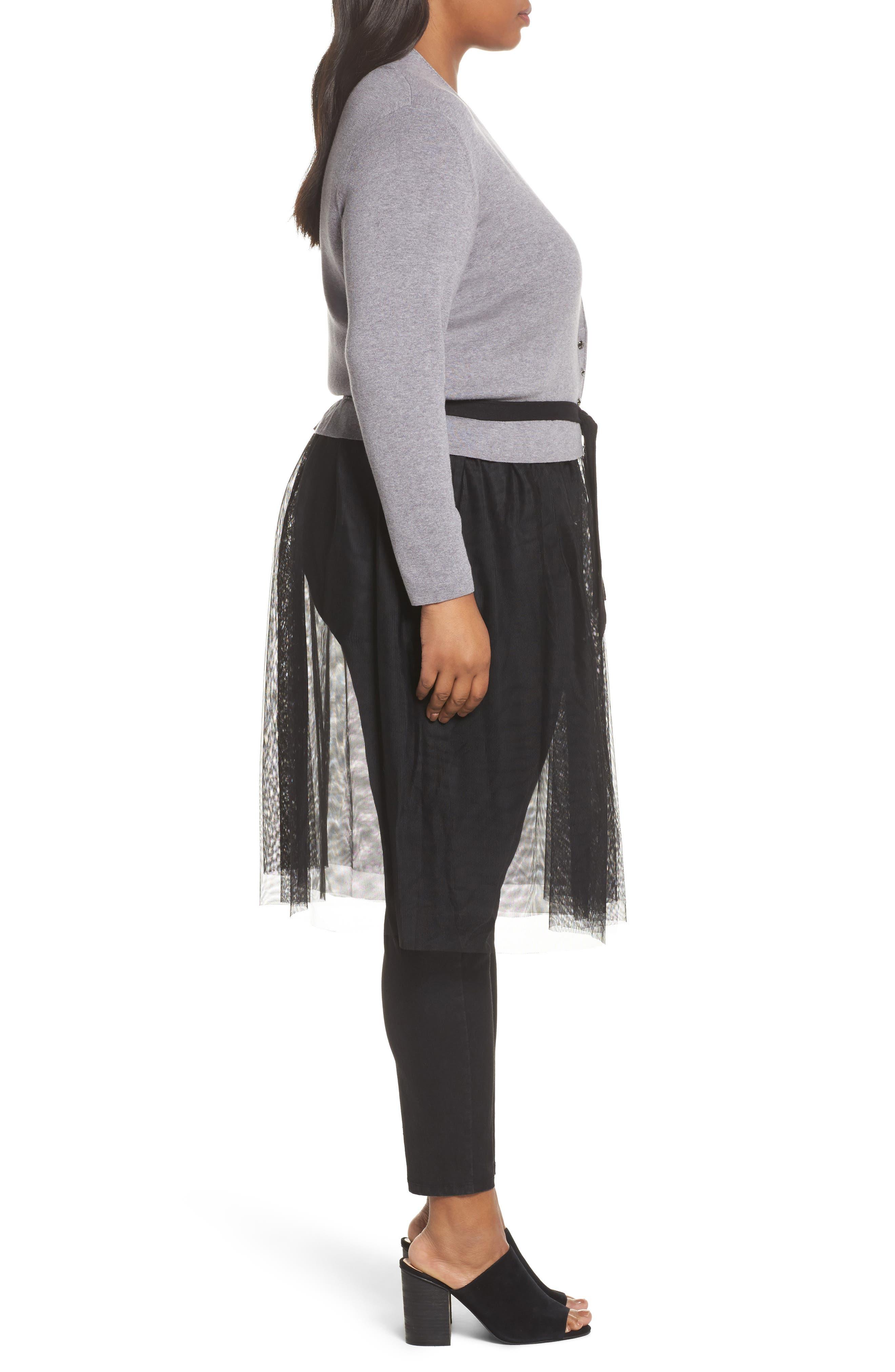 Alternate Image 3  - NIC+ZOE Tulle Time Cardigan (Plus Size)