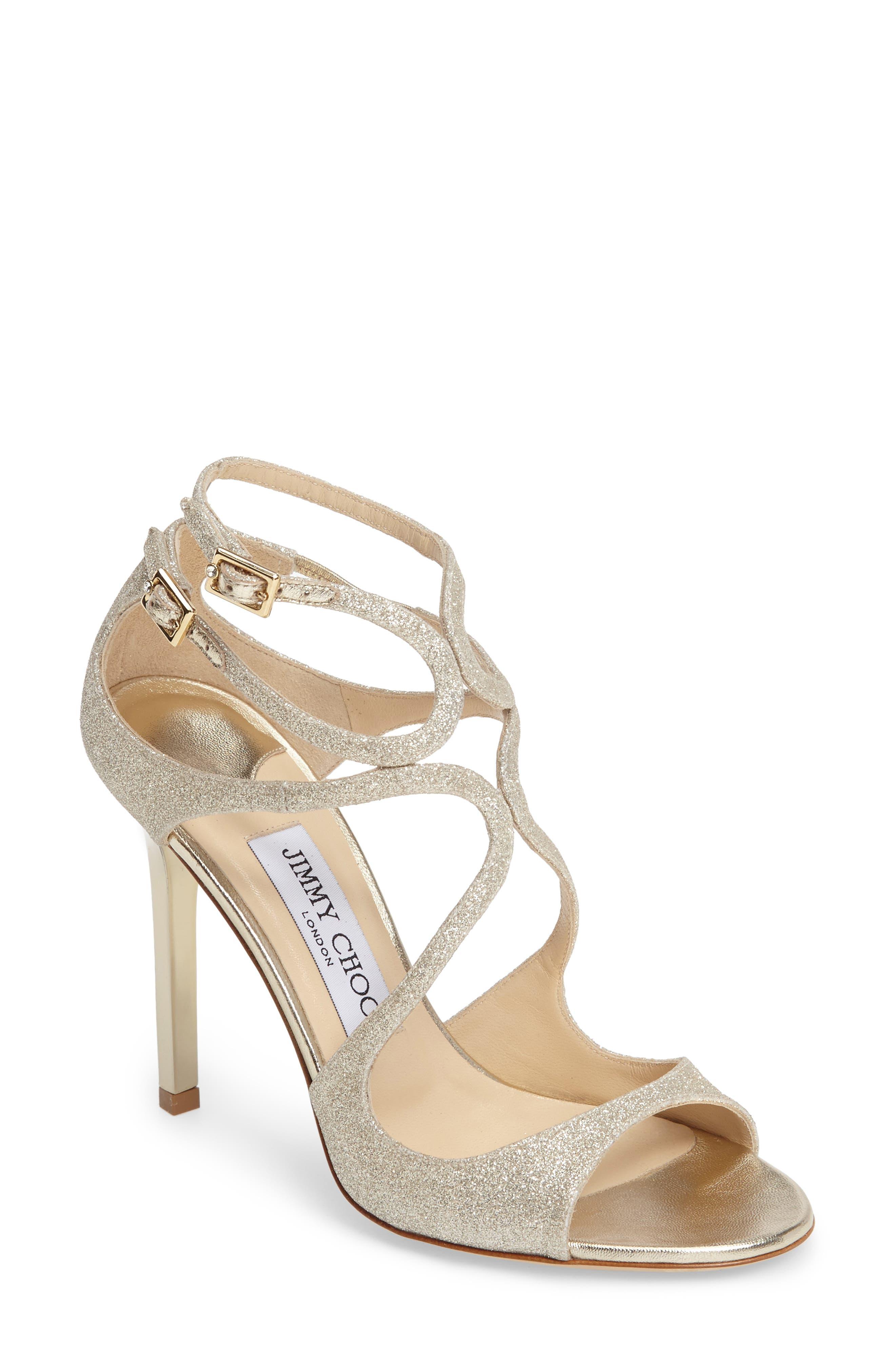 Beau Jimmy Choo Lang Glitter Sandal (Women)