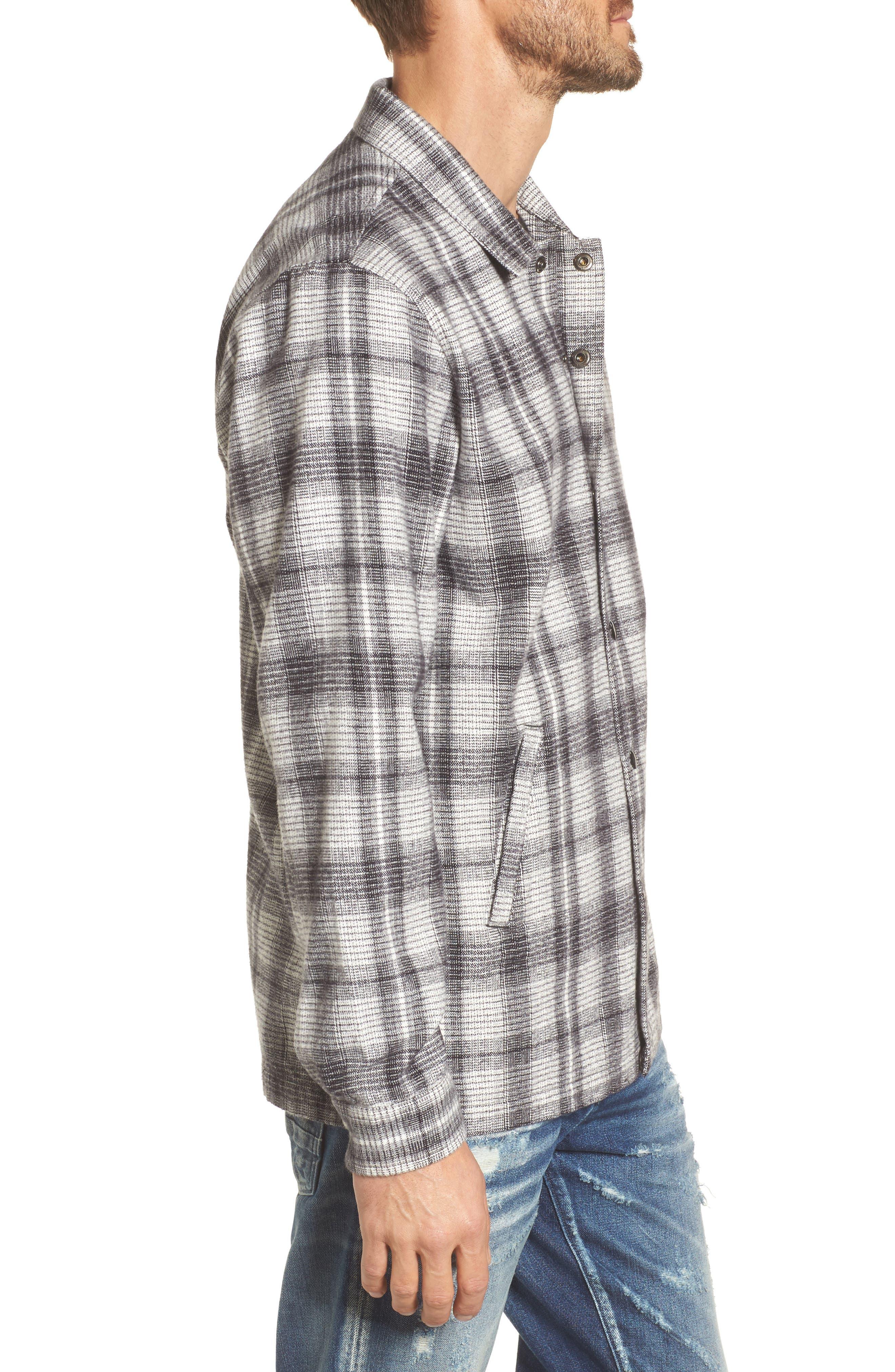Whittier Plaid Flannel Shirt Jacket,                             Alternate thumbnail 3, color,                             Neutral Grey Multi