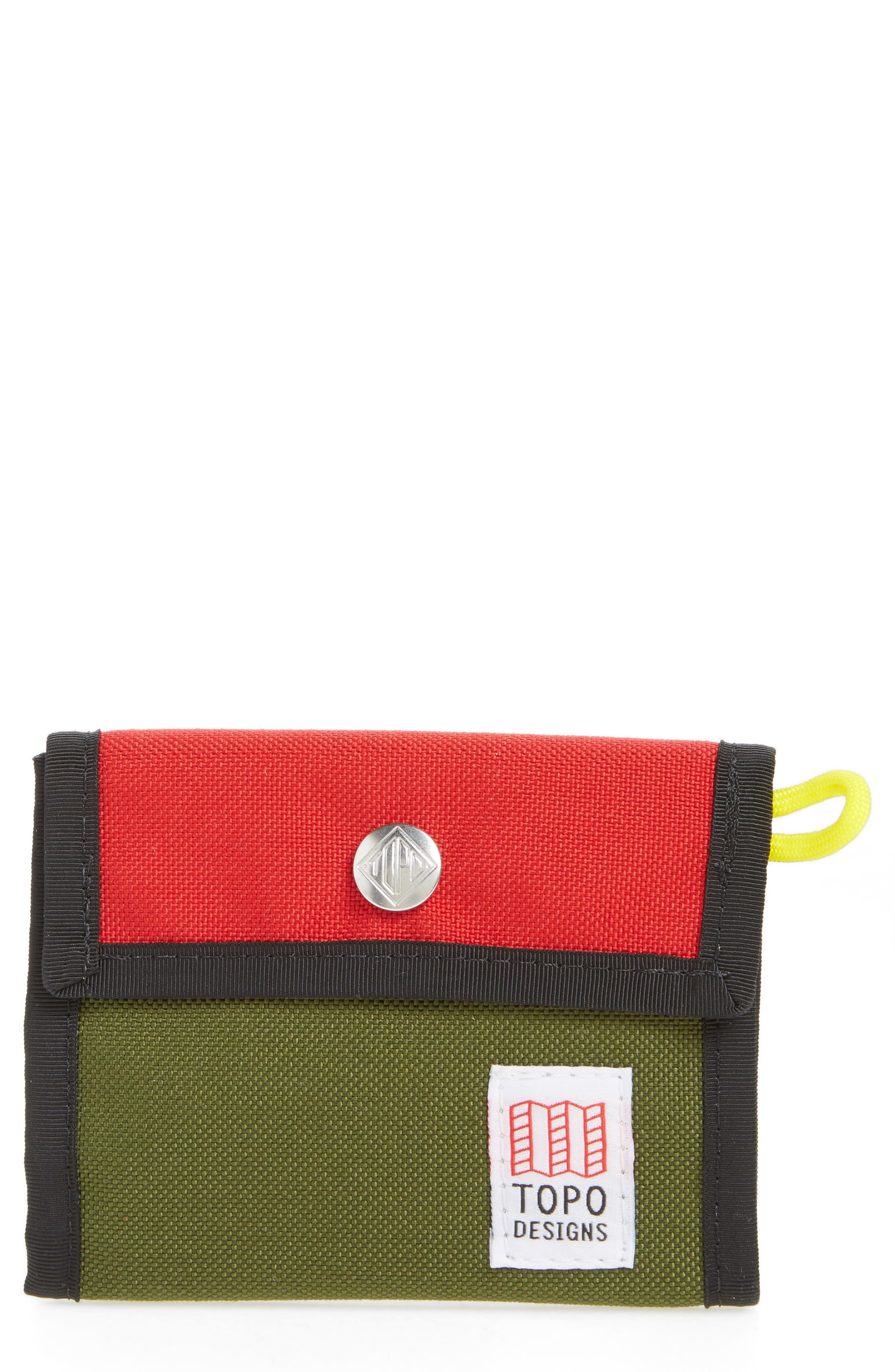 Snap Wallet,                             Main thumbnail 1, color,                             Red/ Olive