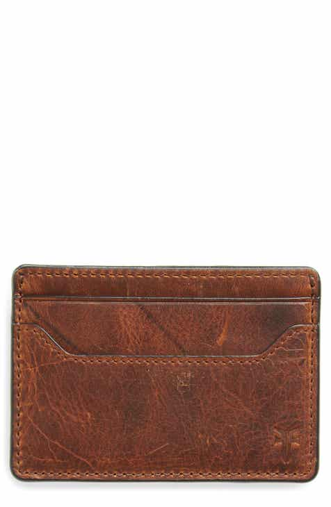0c854b64a841 Frye Logan Leather Money Clip Card Case