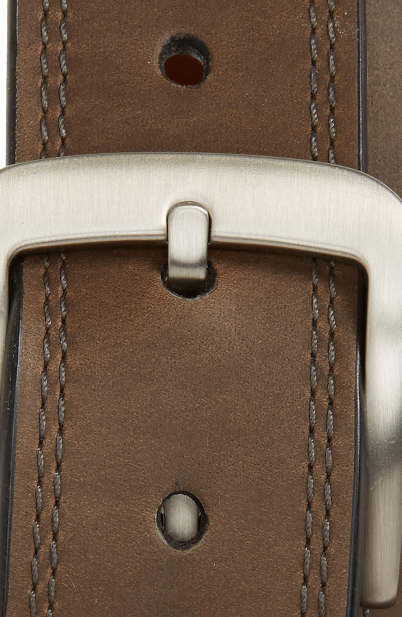 Alternate Image 2  - Shinola Double Stitch Leather Belt
