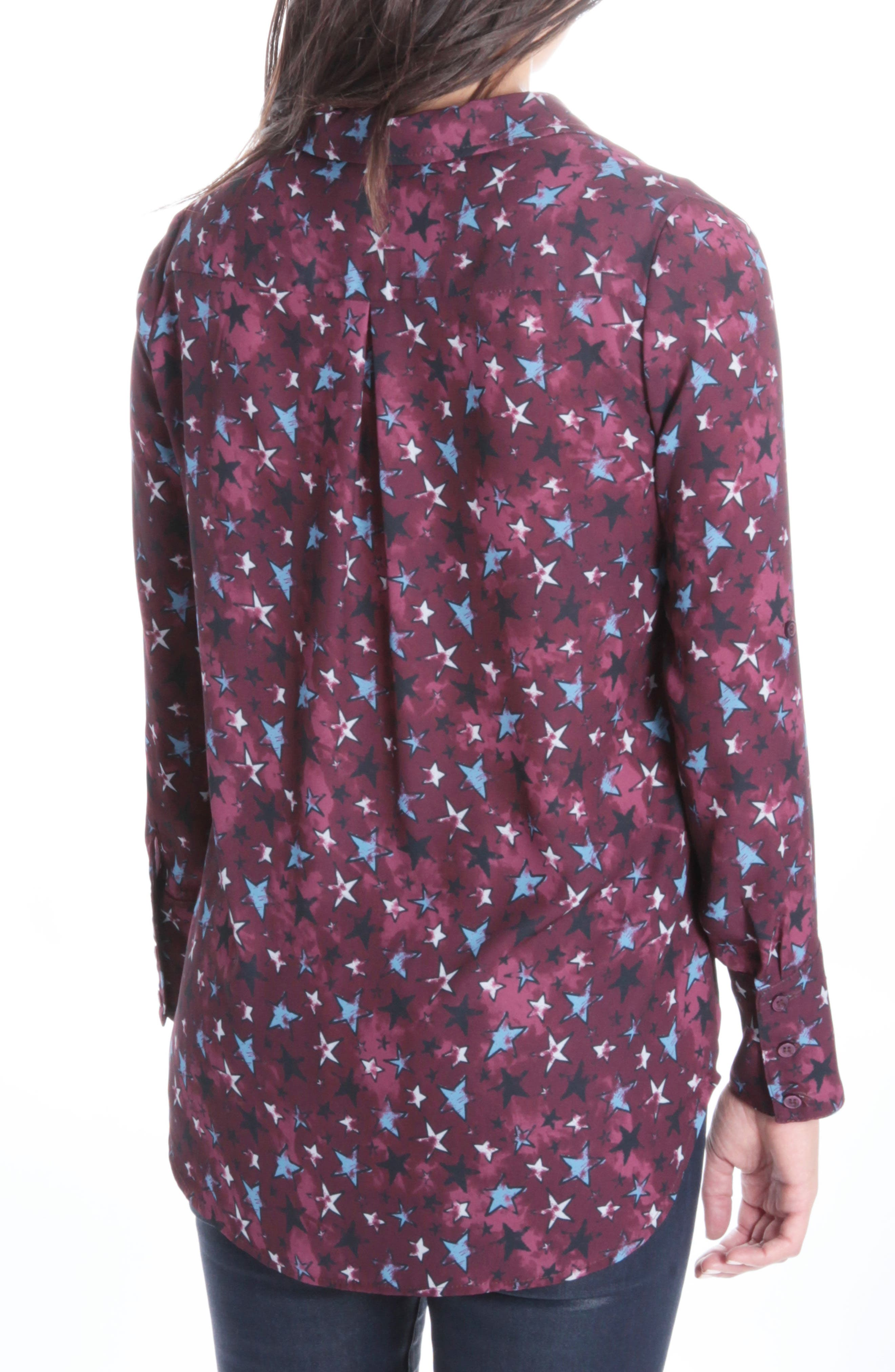 Tallula Button Down,                             Alternate thumbnail 2, color,                             Burgundy