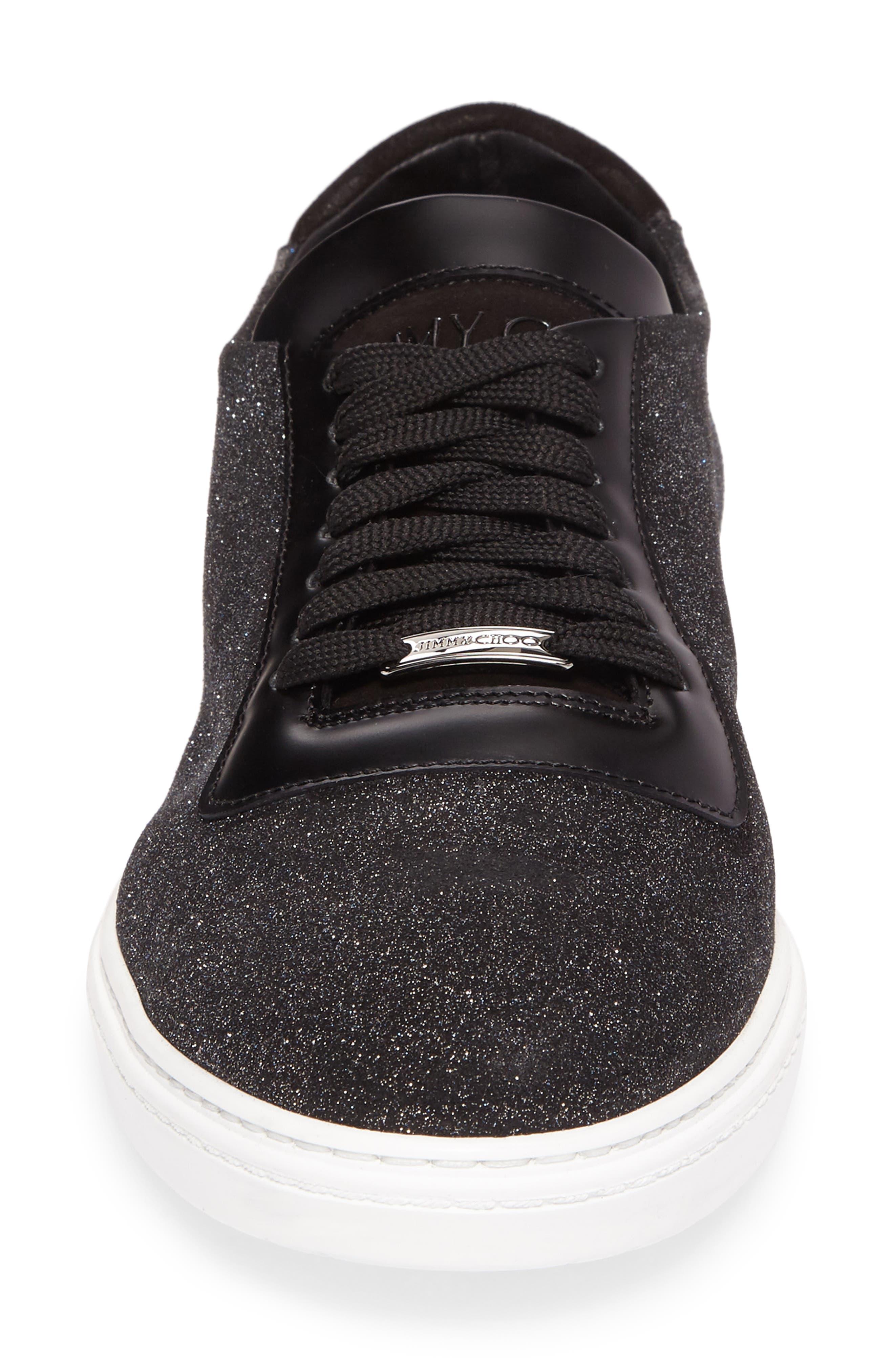 Benn Glitter Low Top Sneaker,                             Alternate thumbnail 4, color,                             Smoky Blue