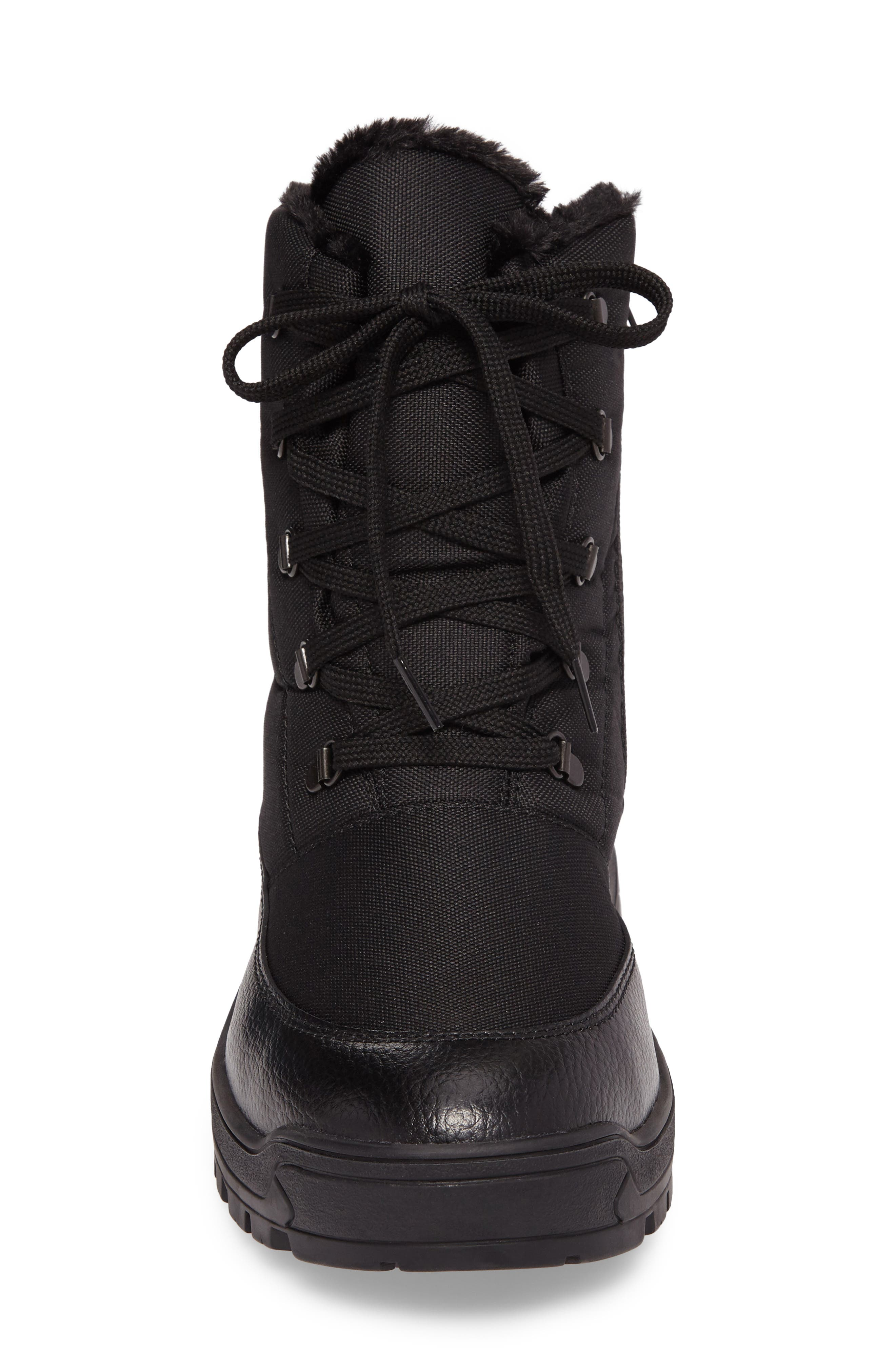 Trigger Winter Boot,                             Alternate thumbnail 4, color,                             Black