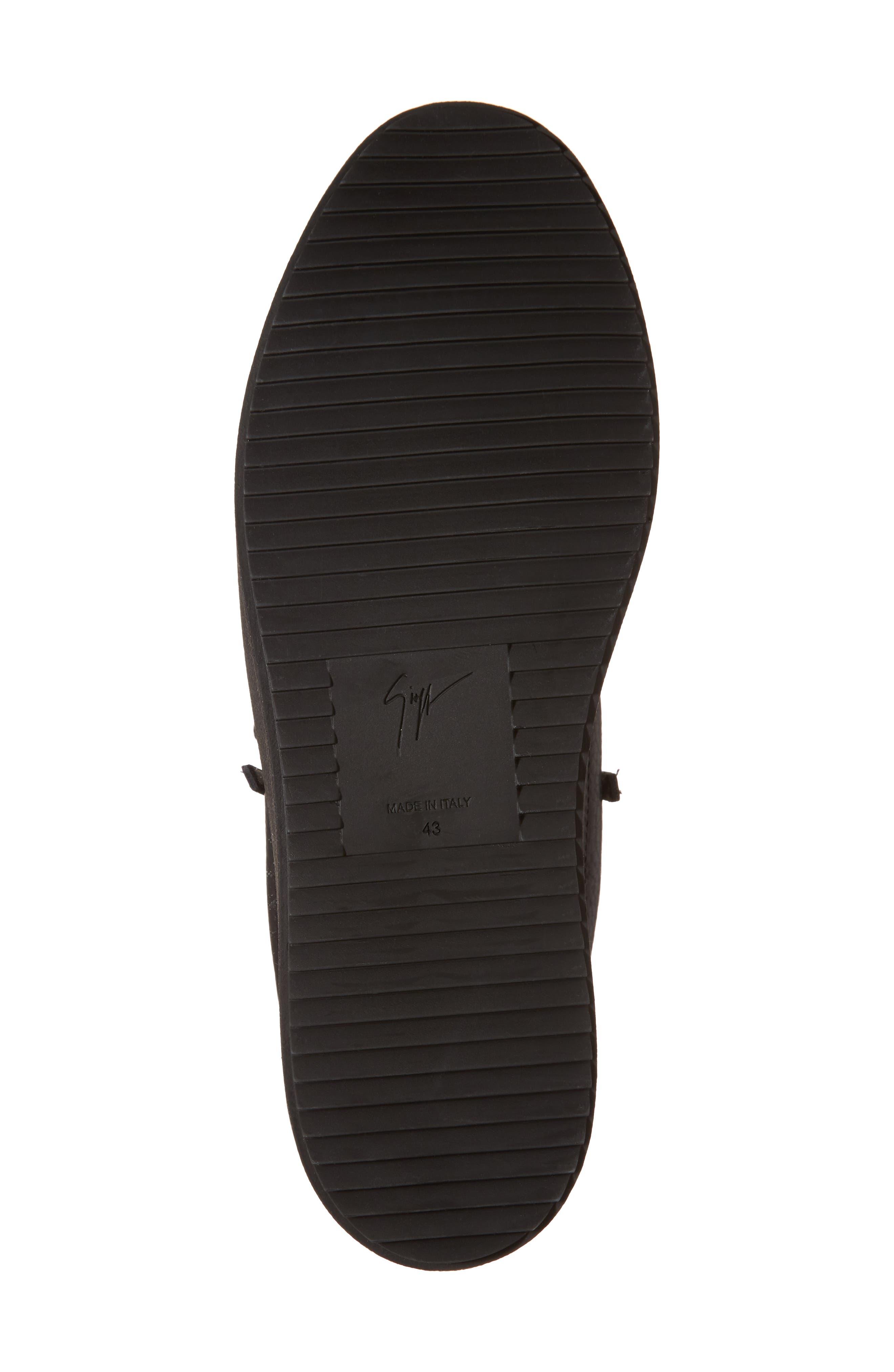 Low-Top Sneaker,                             Alternate thumbnail 6, color,                             Black