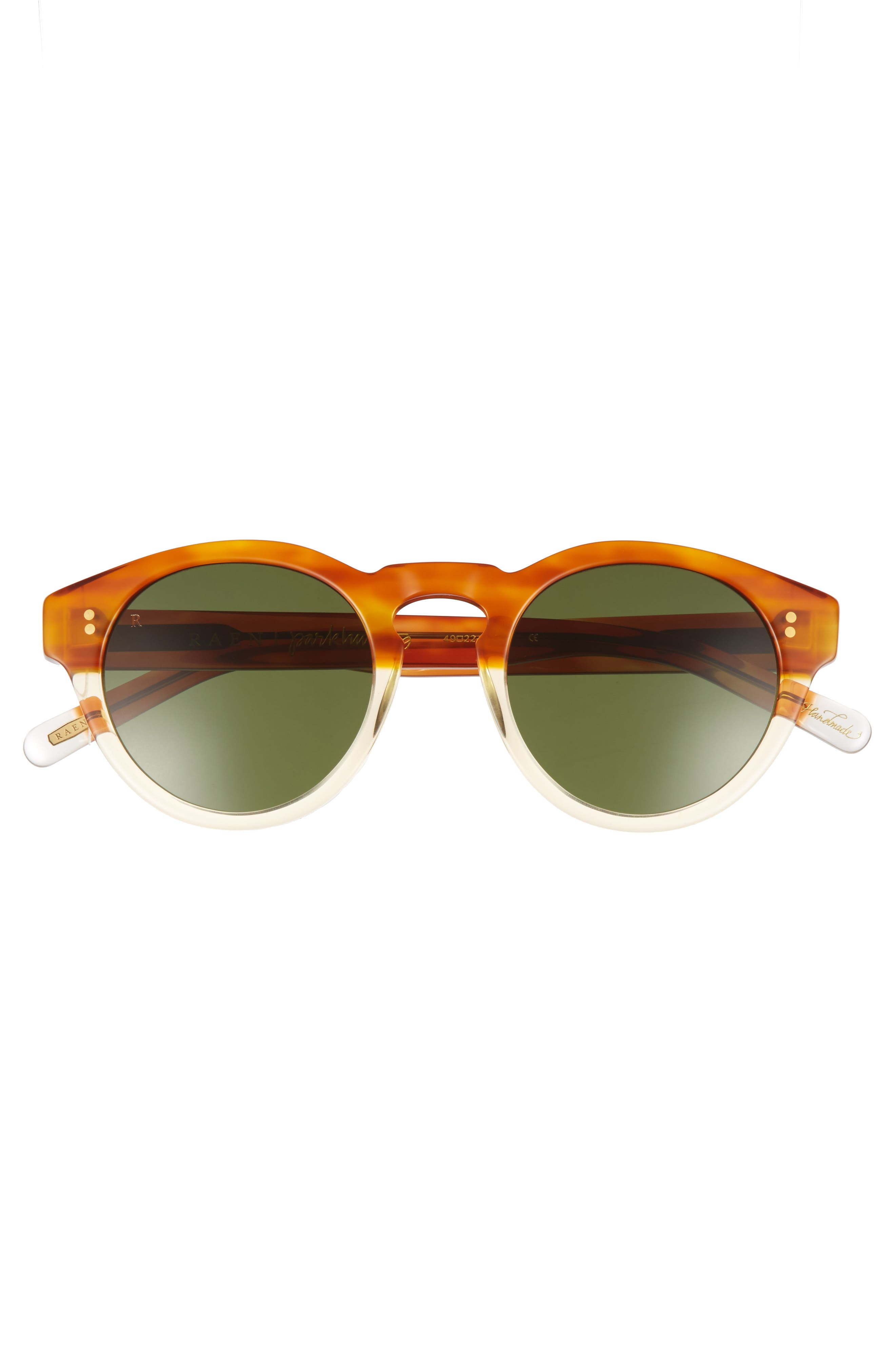 Parkhurst 49mm Sunglasses,                             Alternate thumbnail 2, color,                             Honey Havana/ Green