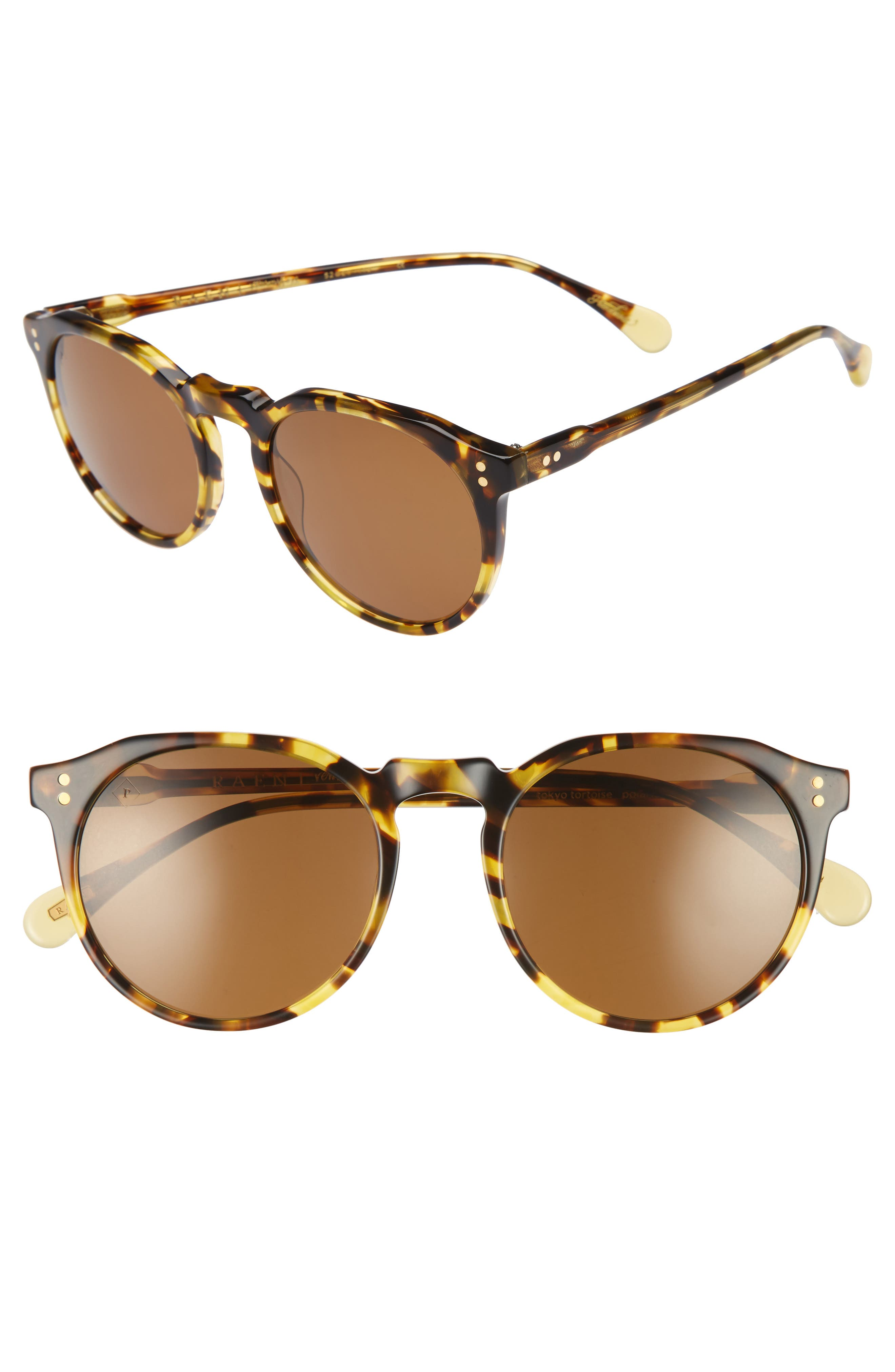 Remmy 52mm Polarized Sunglasses,                         Main,                         color, Tokyo Tortoise/ Brown