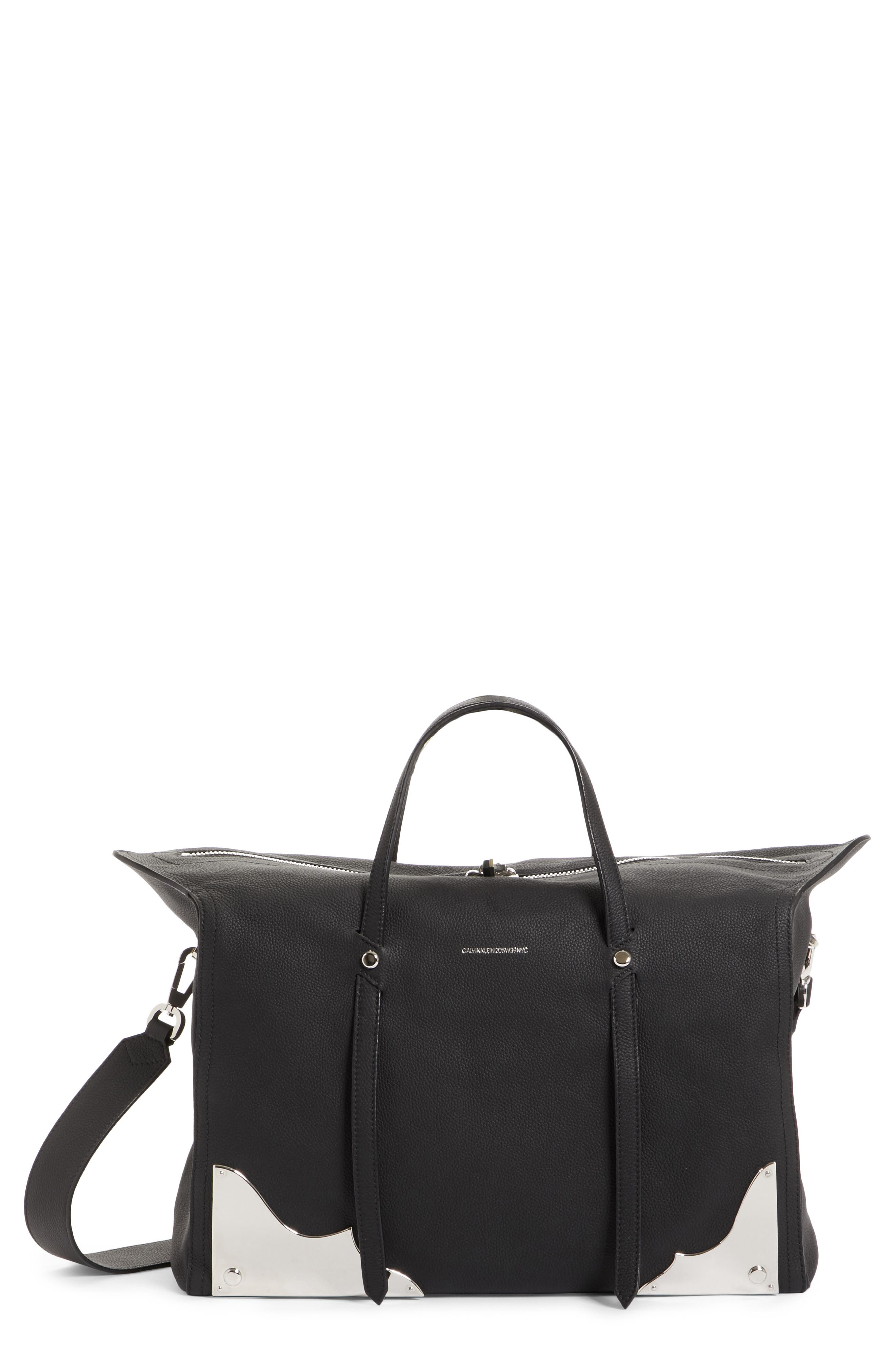 CALVIN KLEIN 205W39NYC Medium Calfskin Satchel