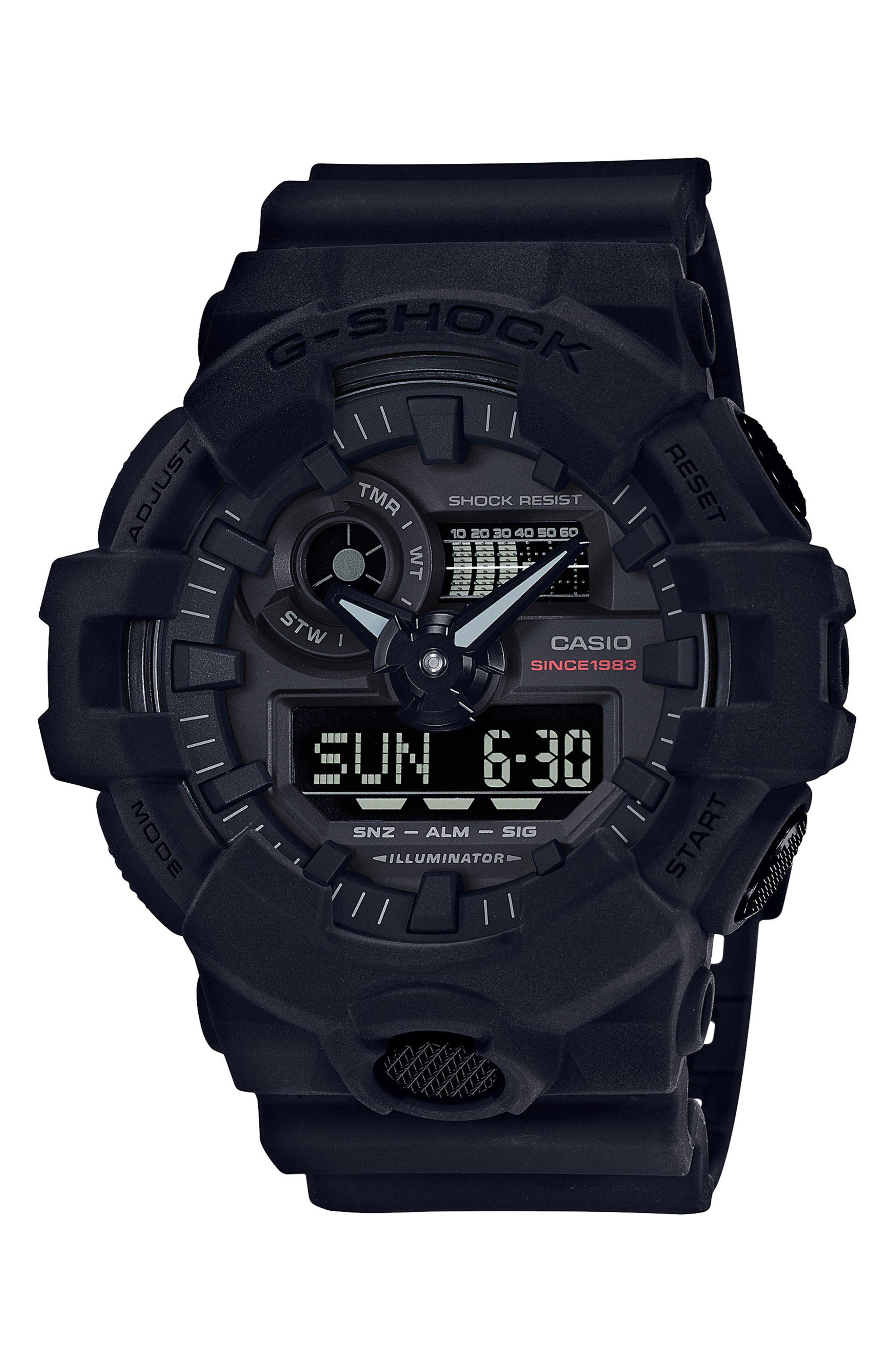 G-Shock Baby-G Neo Matte Black Resin Watch, 53.4mm