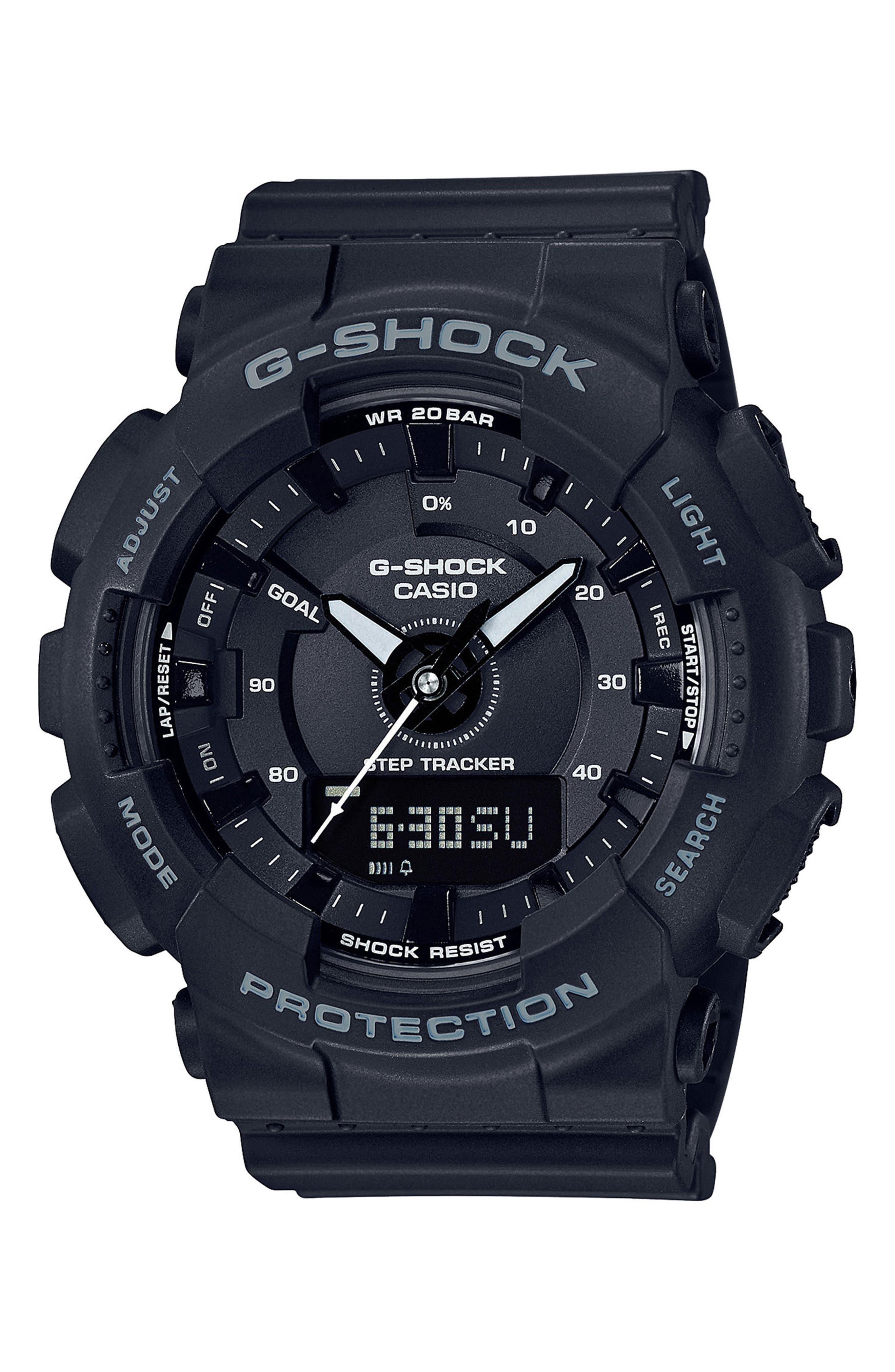 S-Series Resin Ana-Digi Watch, 46mm,                             Main thumbnail 1, color,                             Black