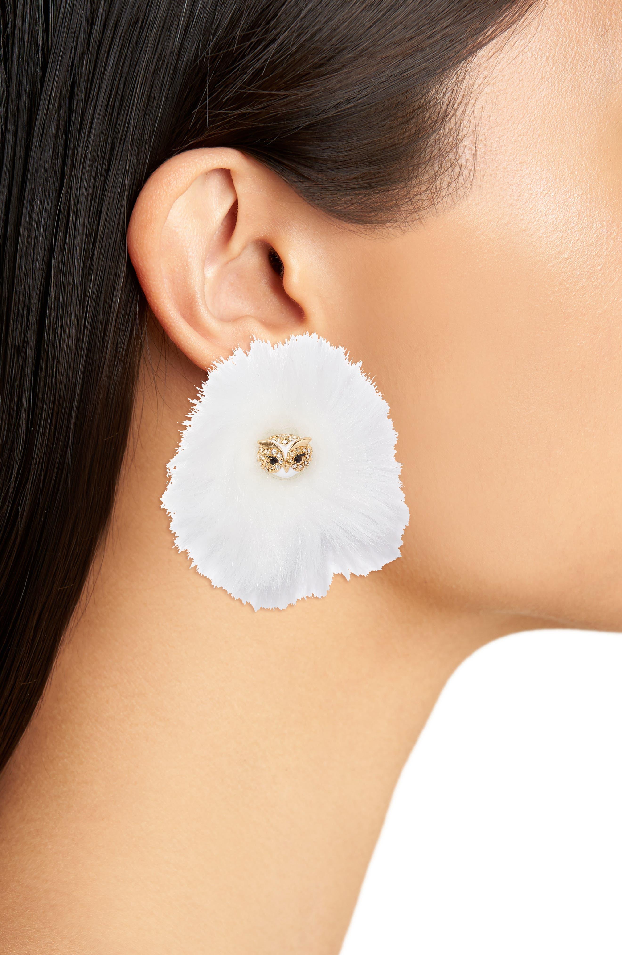 Alternate Image 2  - kate spade new york star bright owl reversible stud earrings