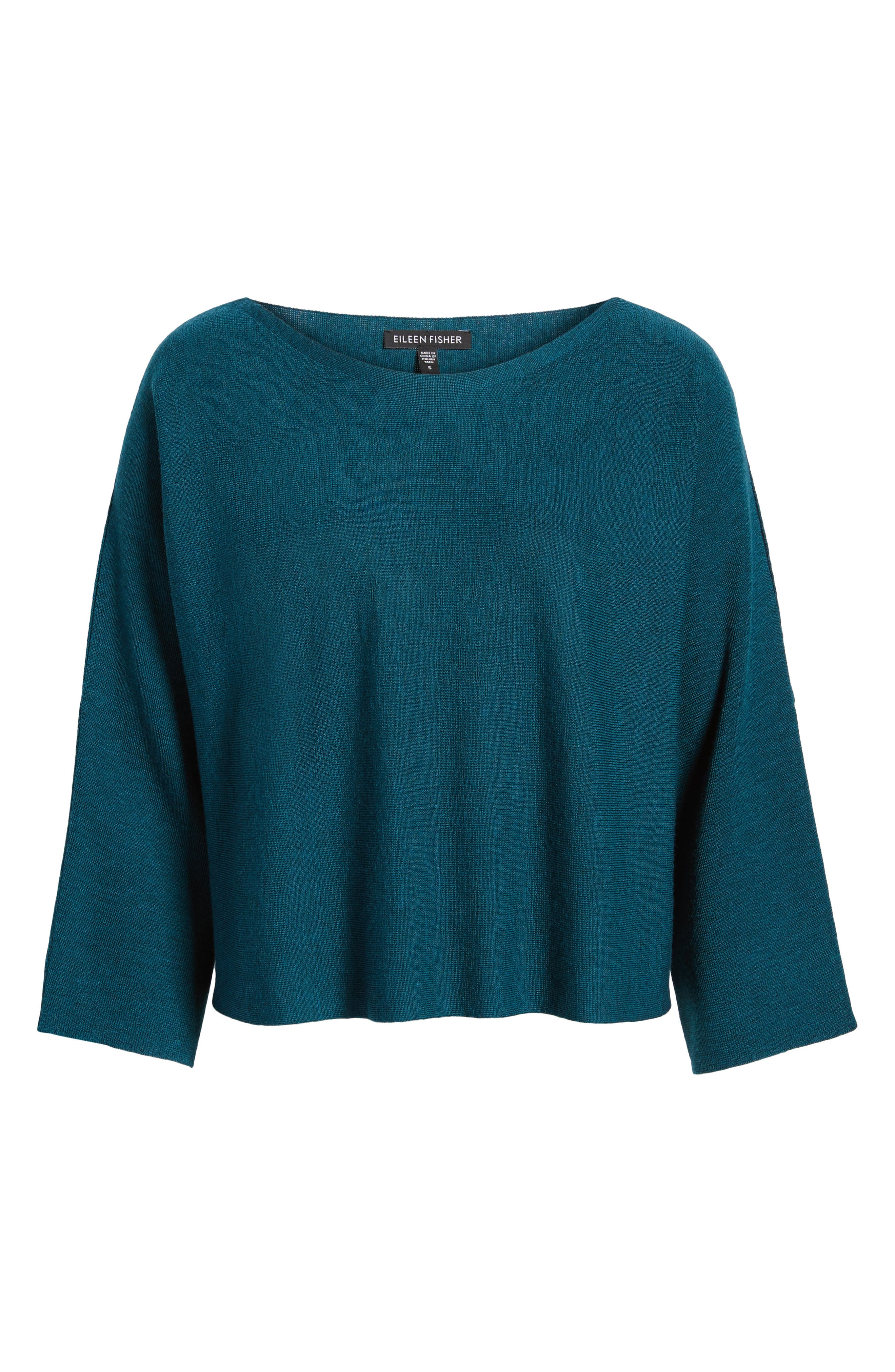 Alternate Image 6  - Eileen Fisher Crop Merino Wool Sweater