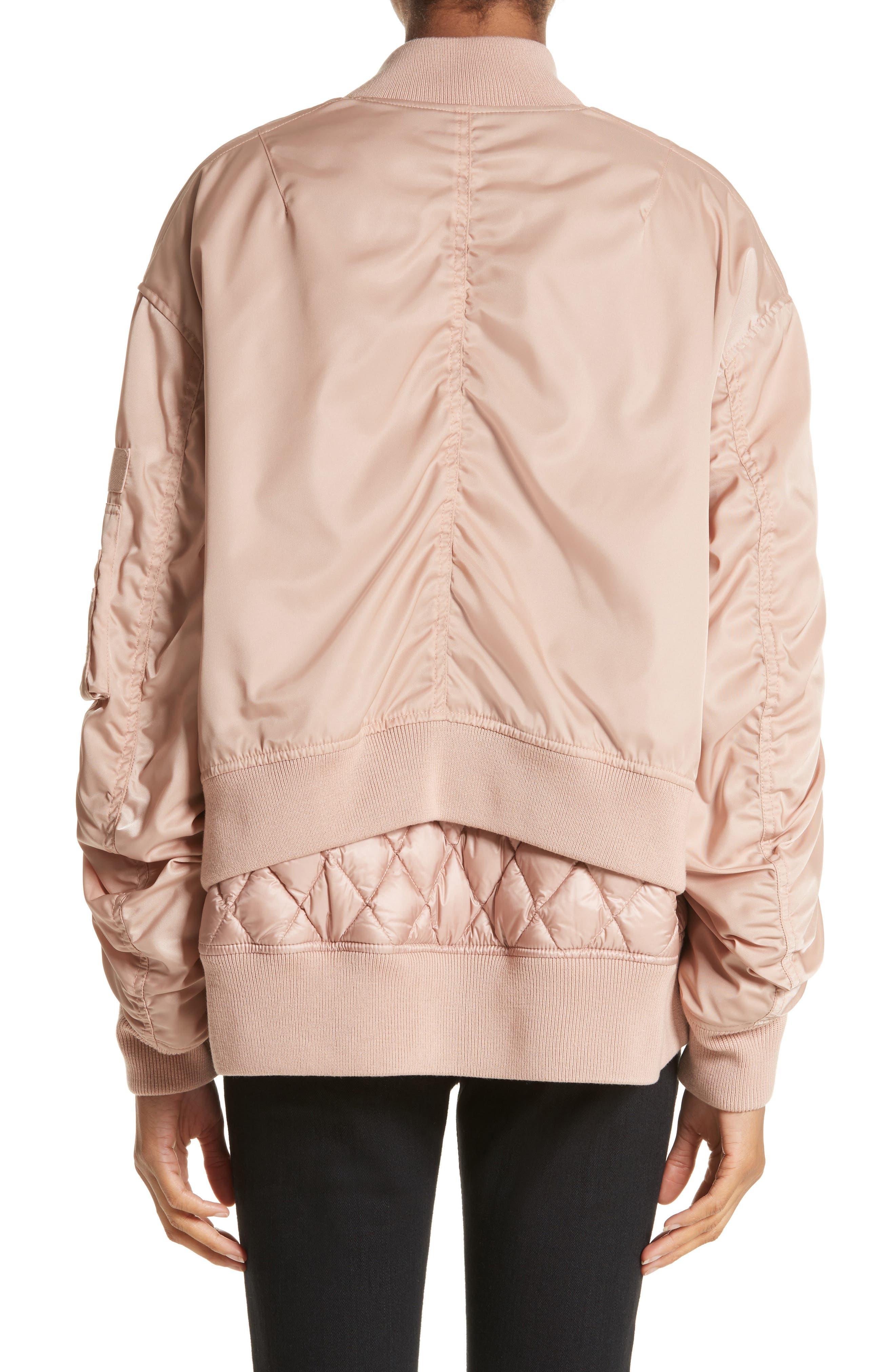 Aralia Layered Bomber Jacket,                             Alternate thumbnail 2, color,                             Pink