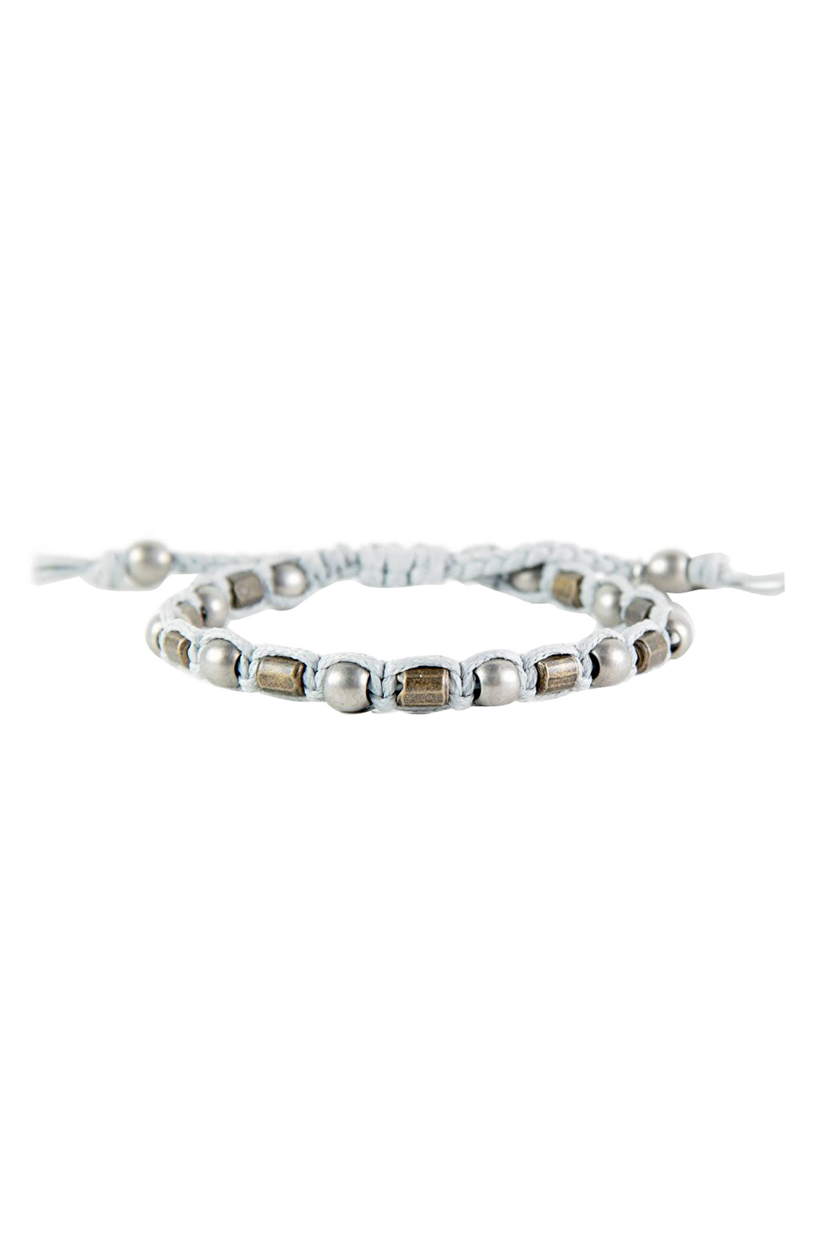 Bead Bracelet,                             Main thumbnail 1, color,                             Grey
