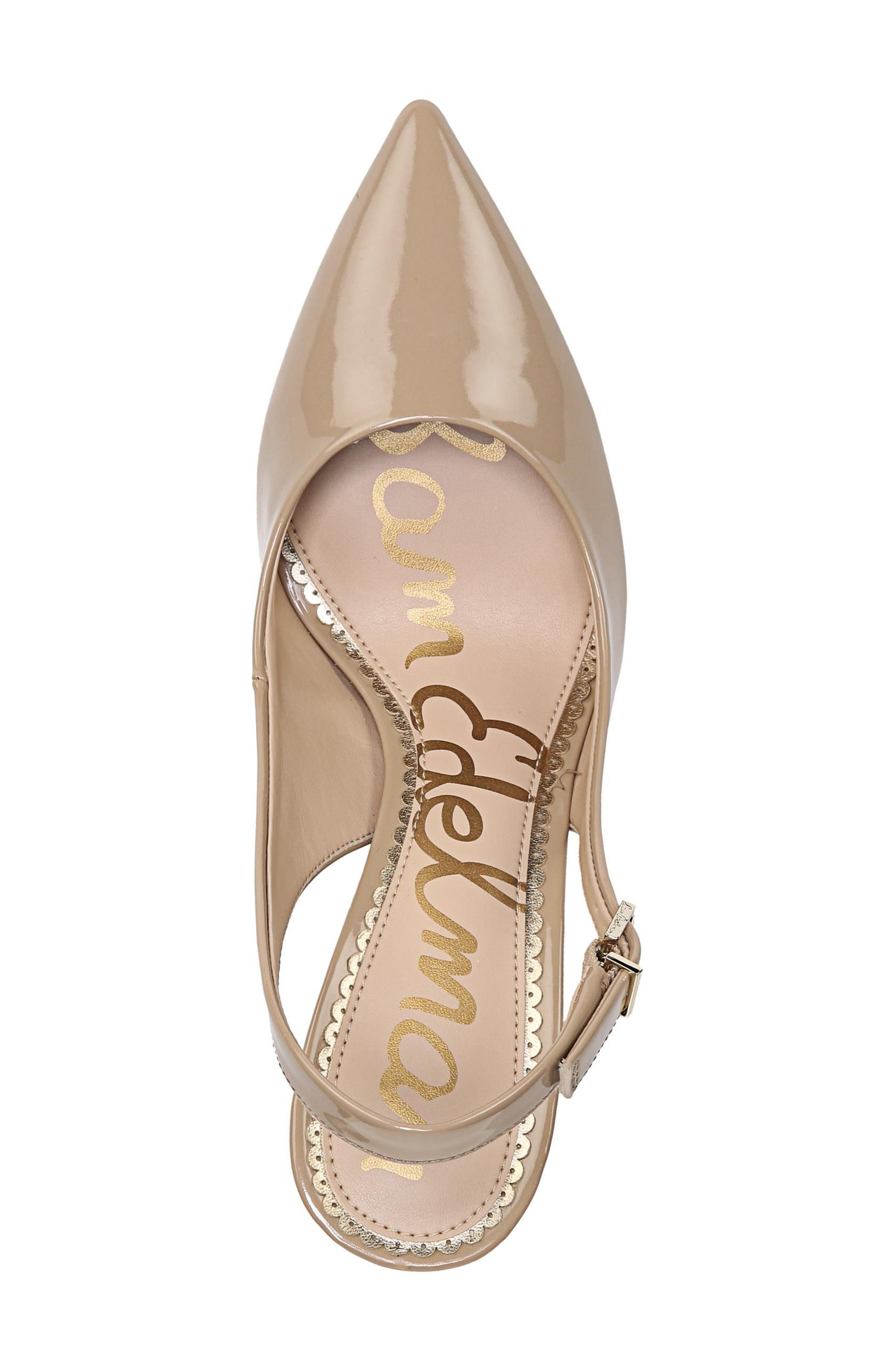 Hastings Slingback Pump,                             Alternate thumbnail 5, color,                             Classic Nude Patent Leather