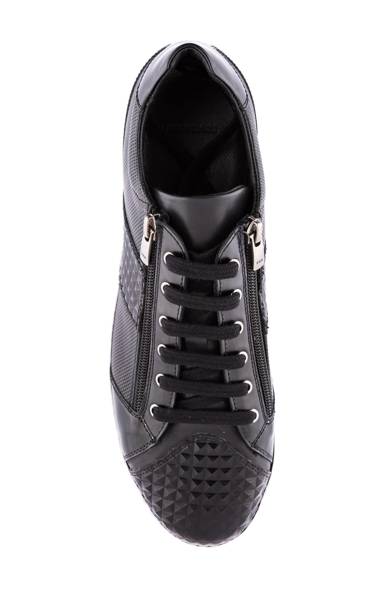 Justin Perforated Sneaker,                             Alternate thumbnail 5, color,                             Black