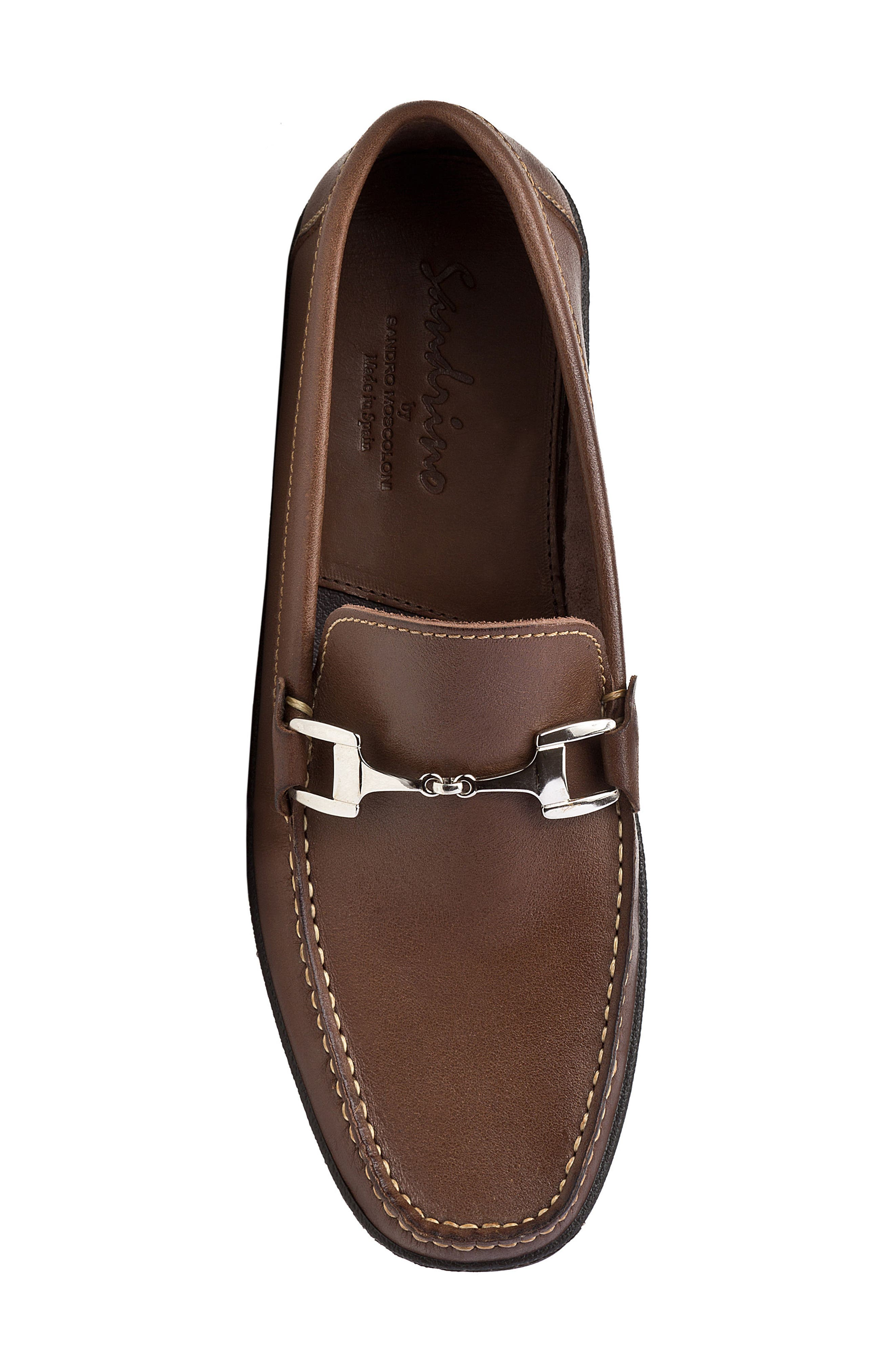 Navarro Bit Loafer,                             Alternate thumbnail 5, color,                             Brown Leather