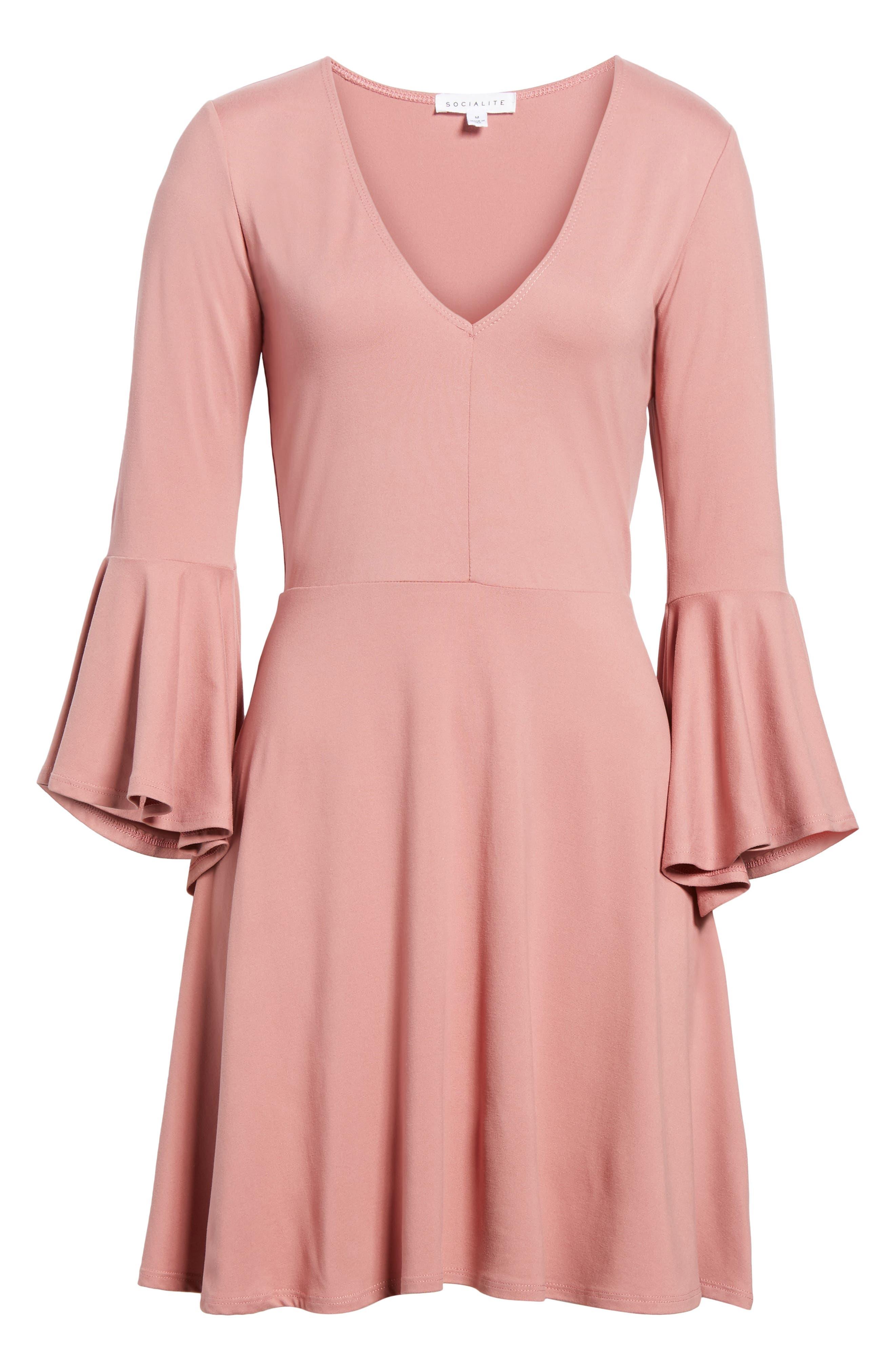 Alternate Image 6  - Socialite Bell Sleeve Knit Dress