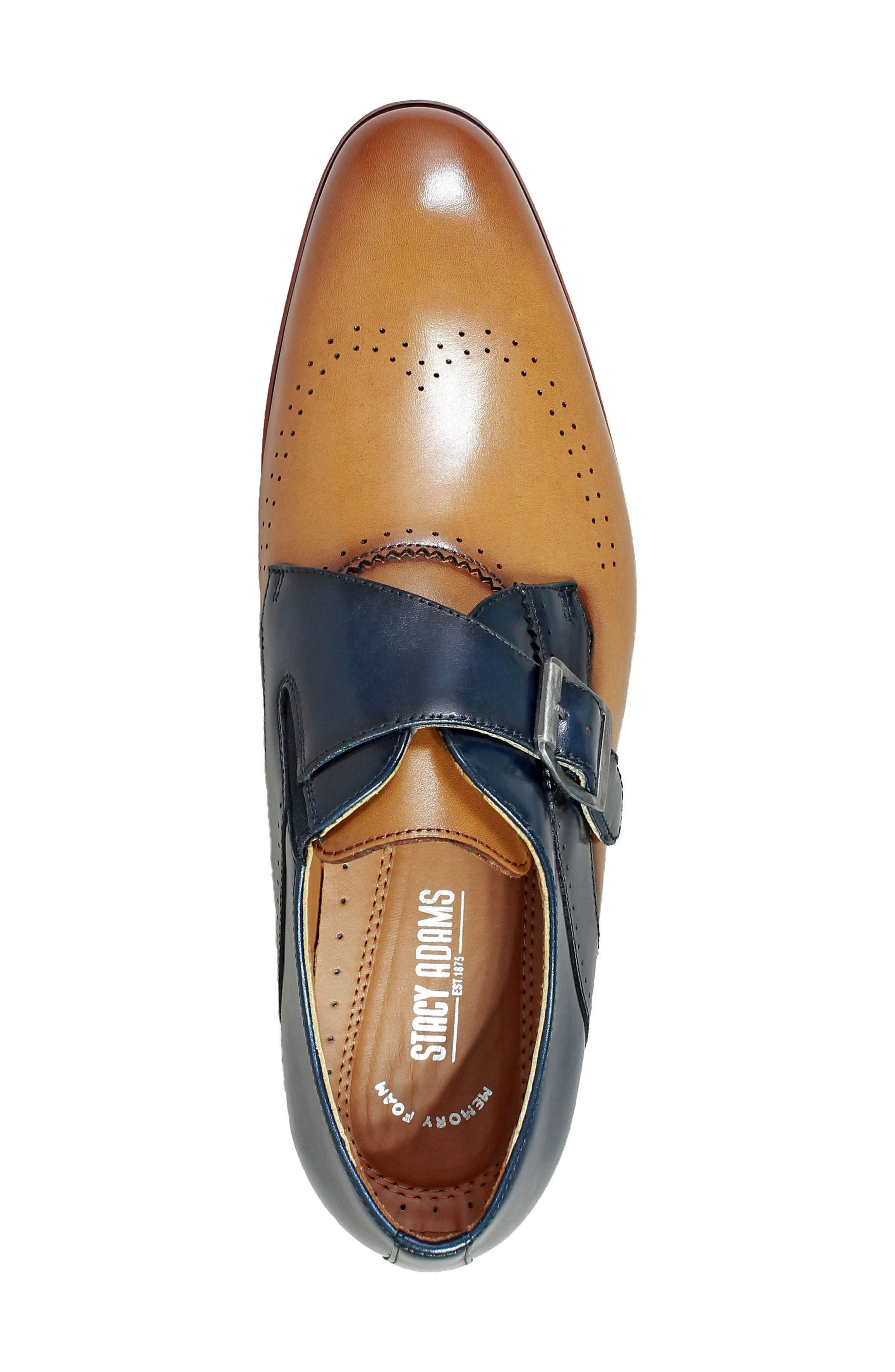Alternate Image 5  - Stacy Adams Saxon Perforated Monk Shoe (Men)