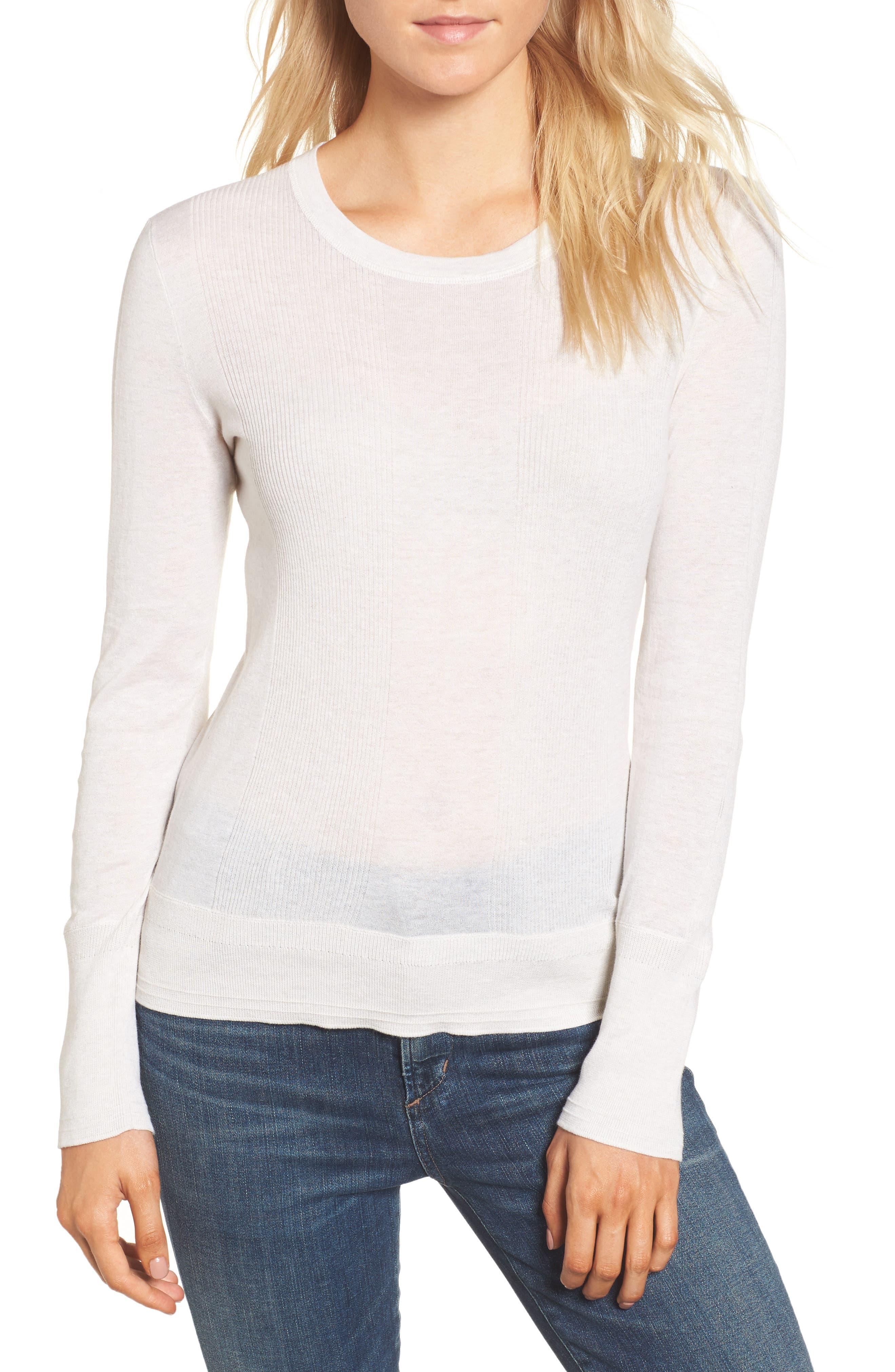 Main Image - James Perse Cotton Crewneck Sweater