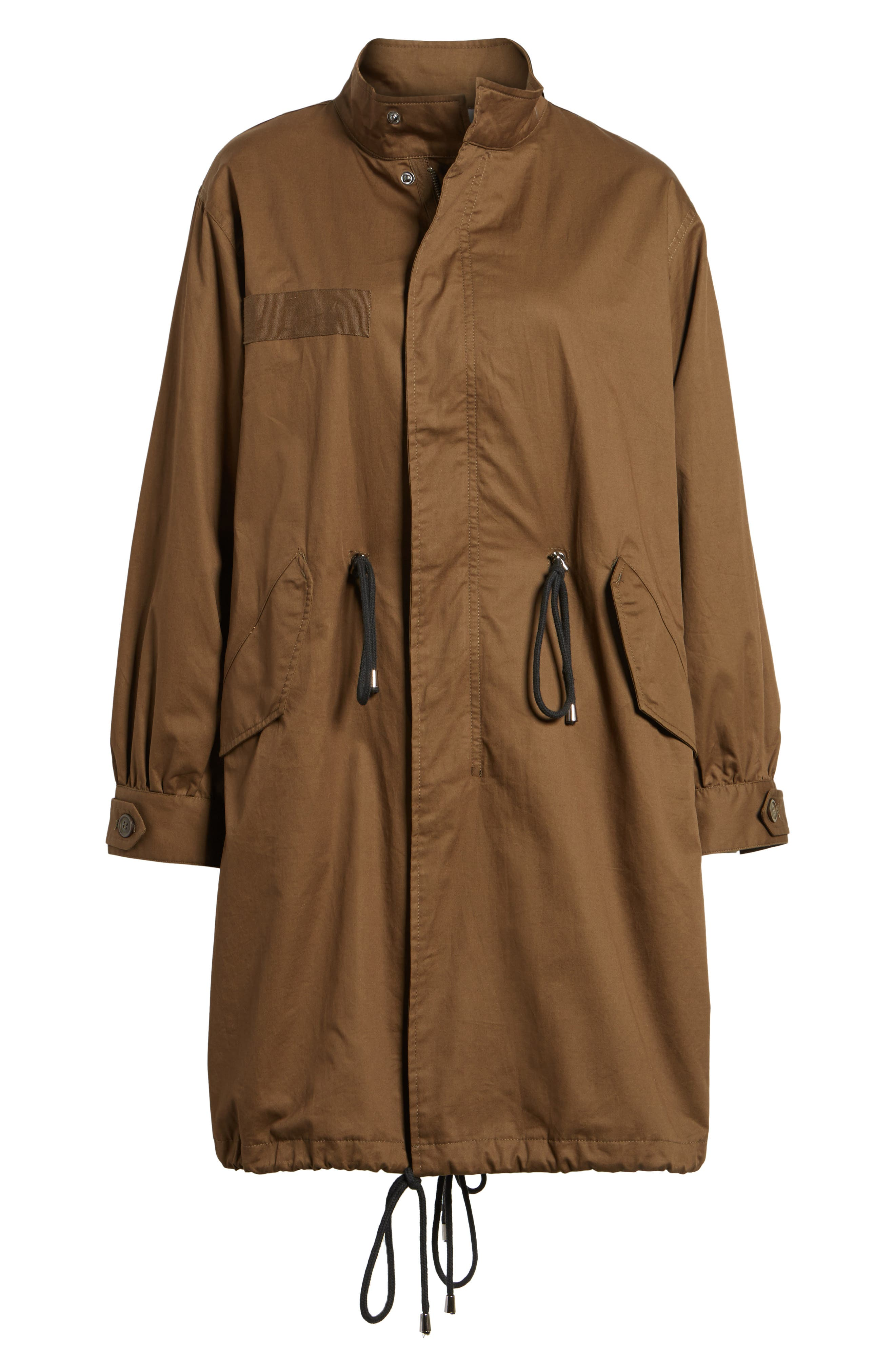 Oversize Military Coat,                             Alternate thumbnail 6, color,                             Olive