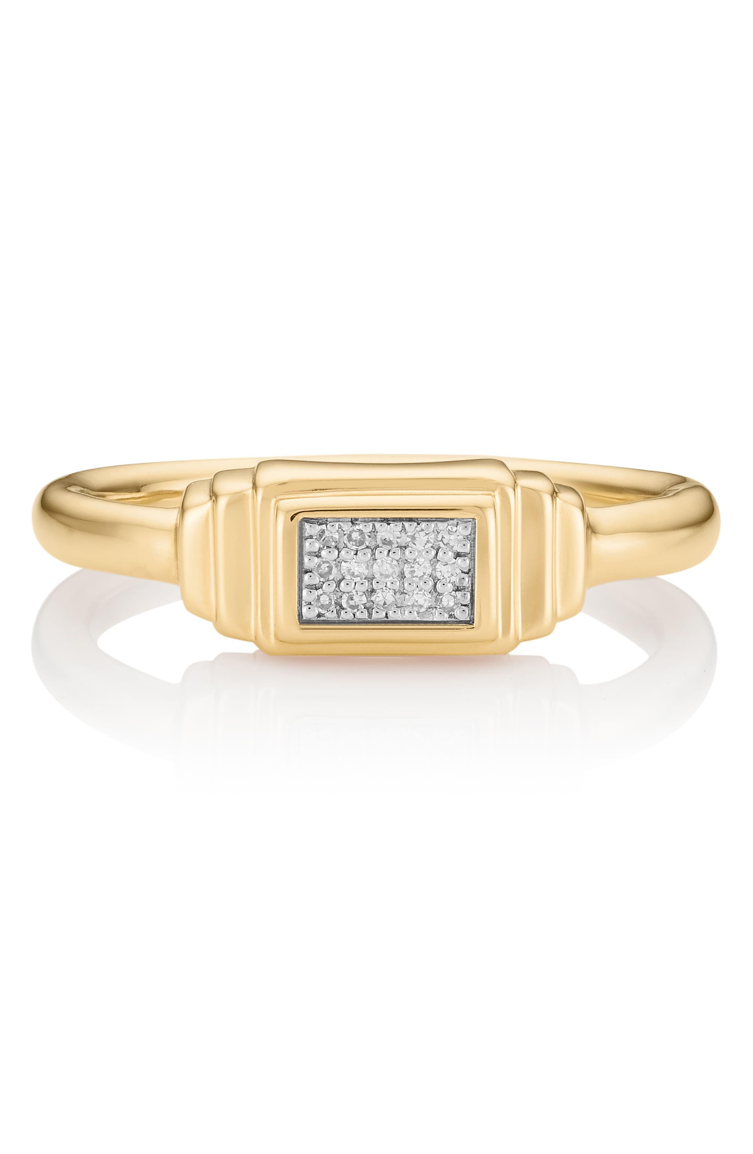 Baja Deco Diamond Ring,                             Alternate thumbnail 2, color,                             Yellow Gold