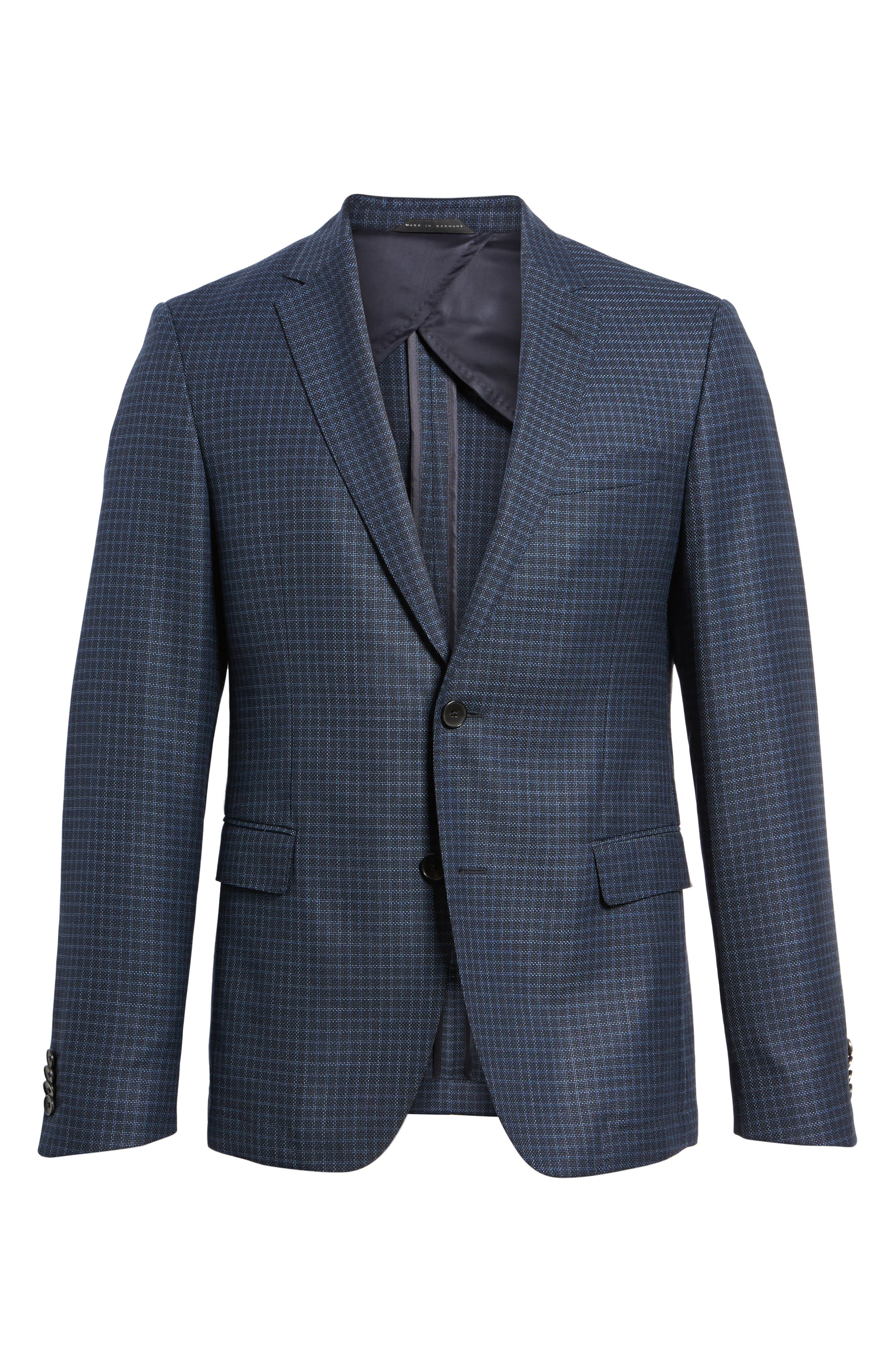 Alternate Image 6  - BOSS Nobis Trim Fit Check Wool Sport Coat