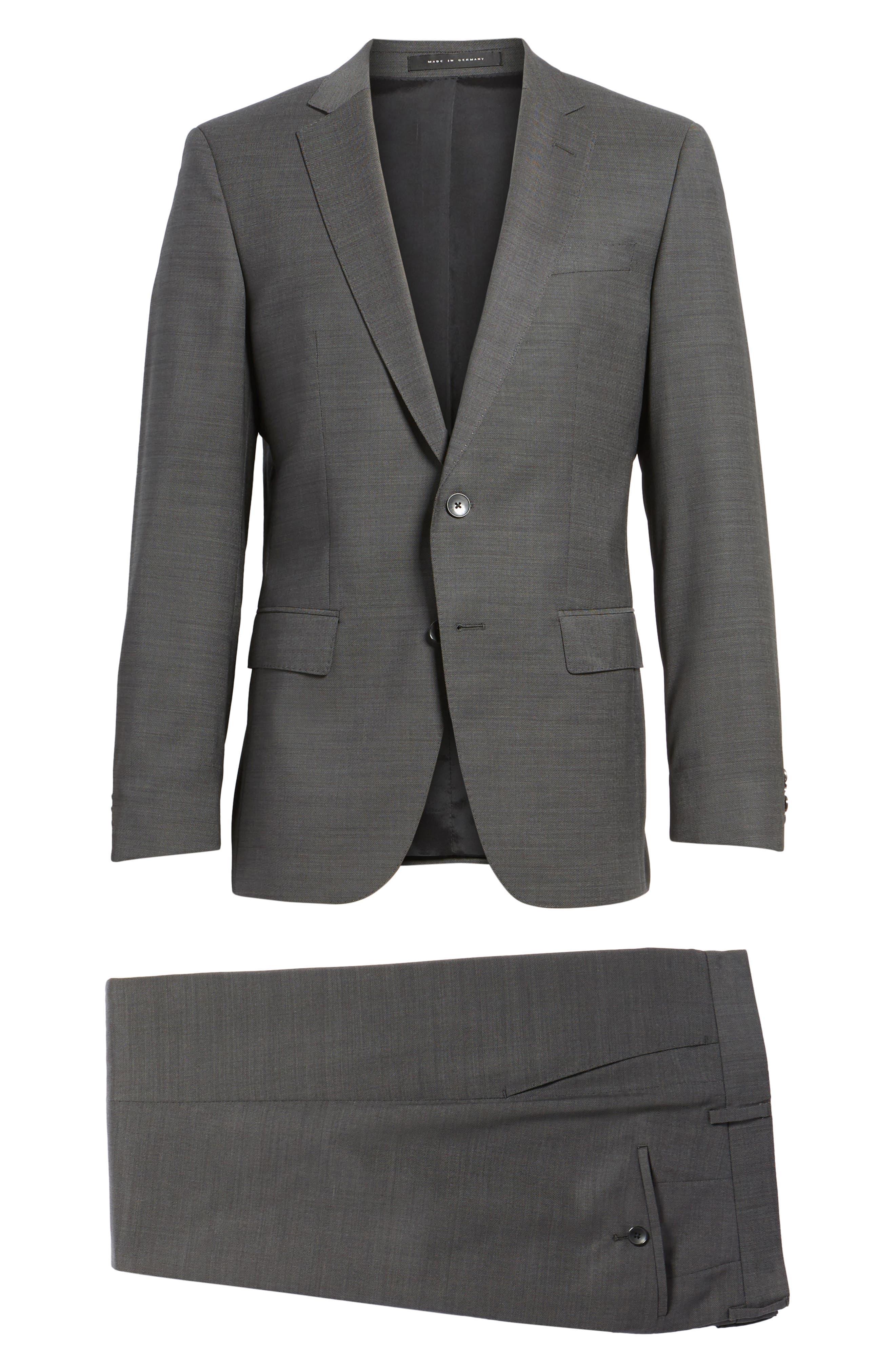 Huge/Genius Trim Fit Solid Wool Suit,                             Alternate thumbnail 8, color,                             Open Grey